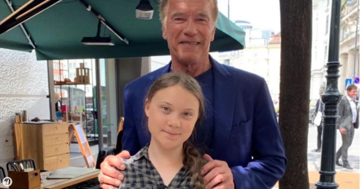 Arnold Schwarzenegger Gave A Tesla To Climate Activist Greta Thunberg