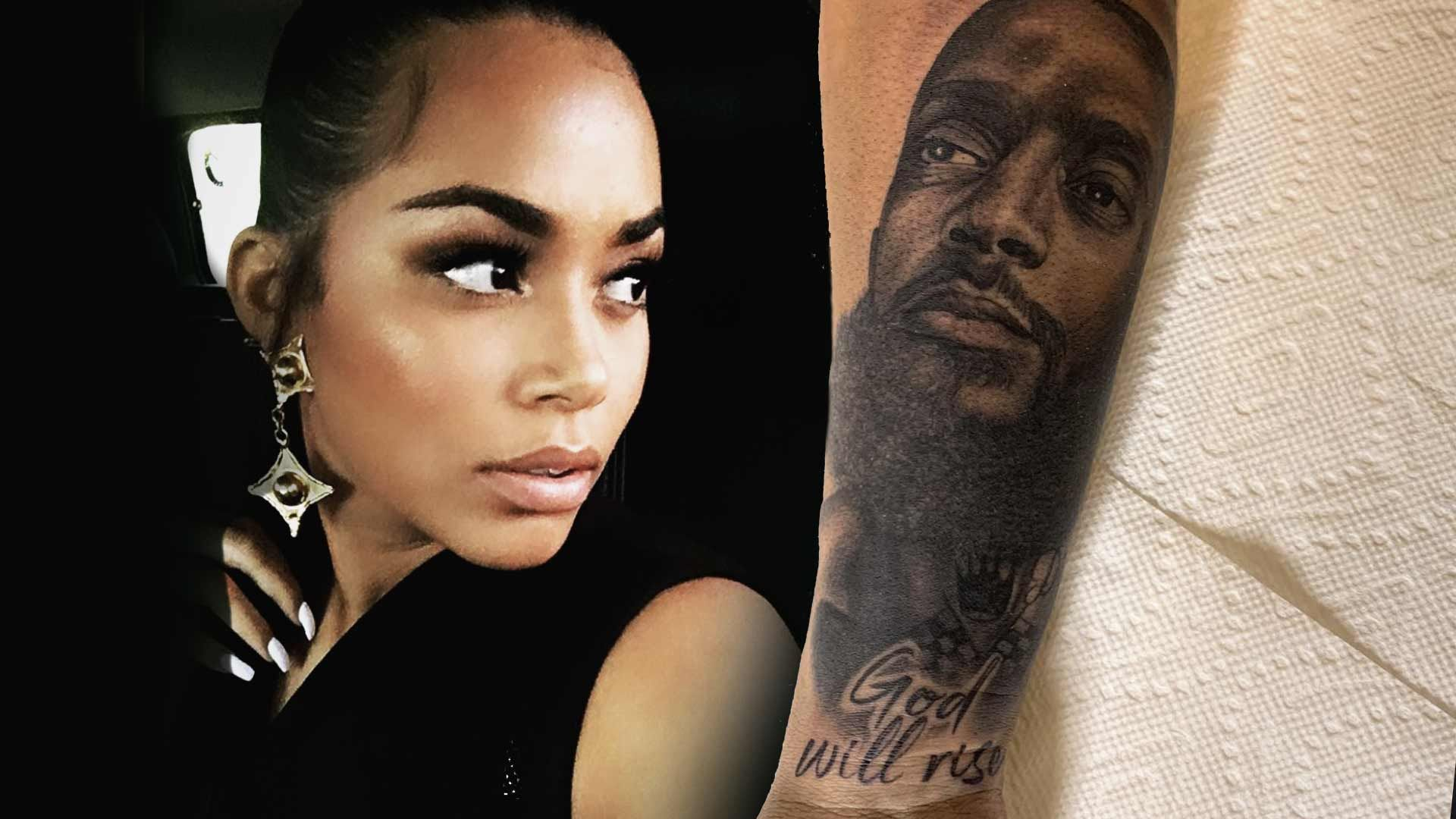 Lauren London Gets Nipsey Hussle's Face Tattoo on Her Arm