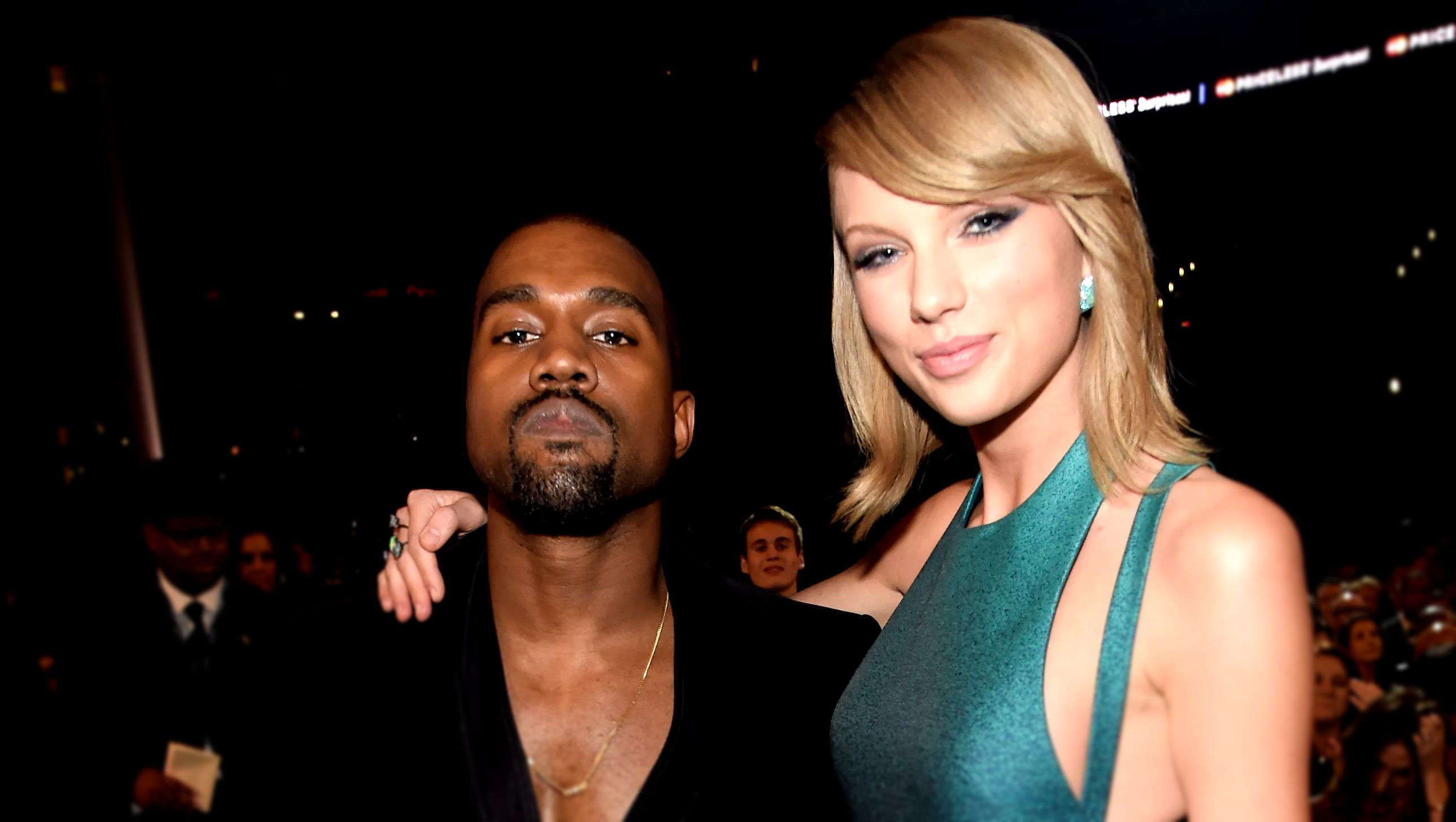 Kanye West & Taylor Swift at the 2015 GRAMMY Awards