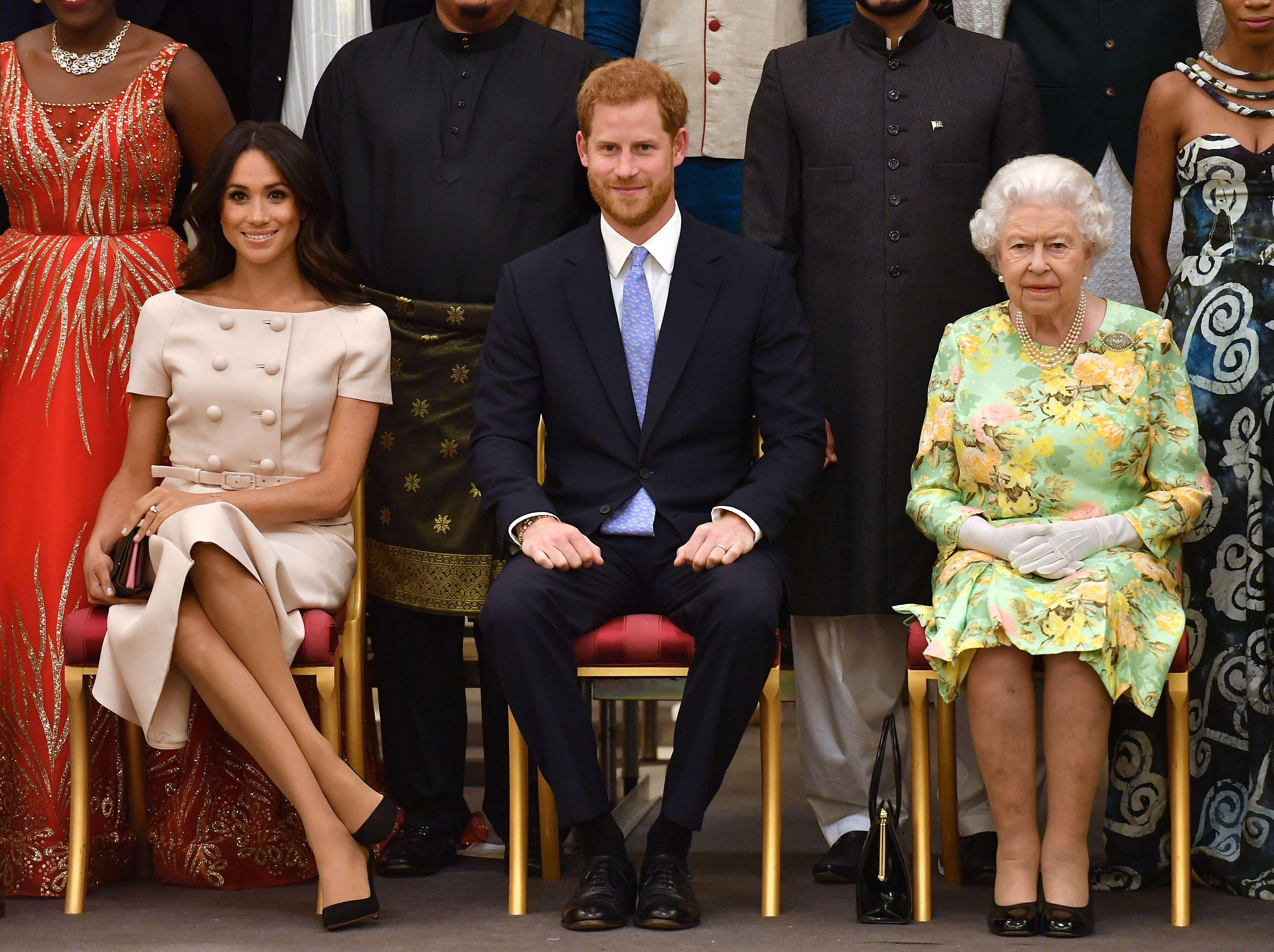 Prince Harry, Meghan Markle, Queen Elizabeth II
