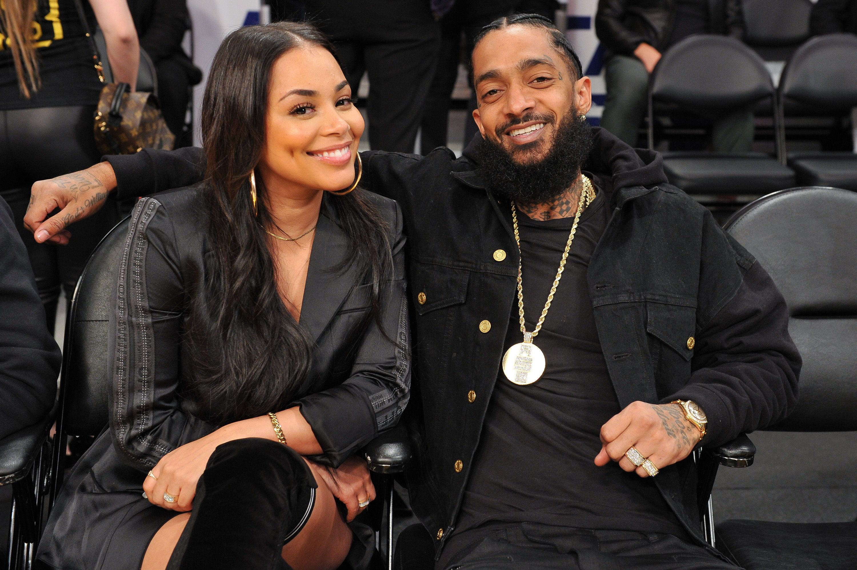 Lauren London pictured with beloved late partner Nipsey Hussle