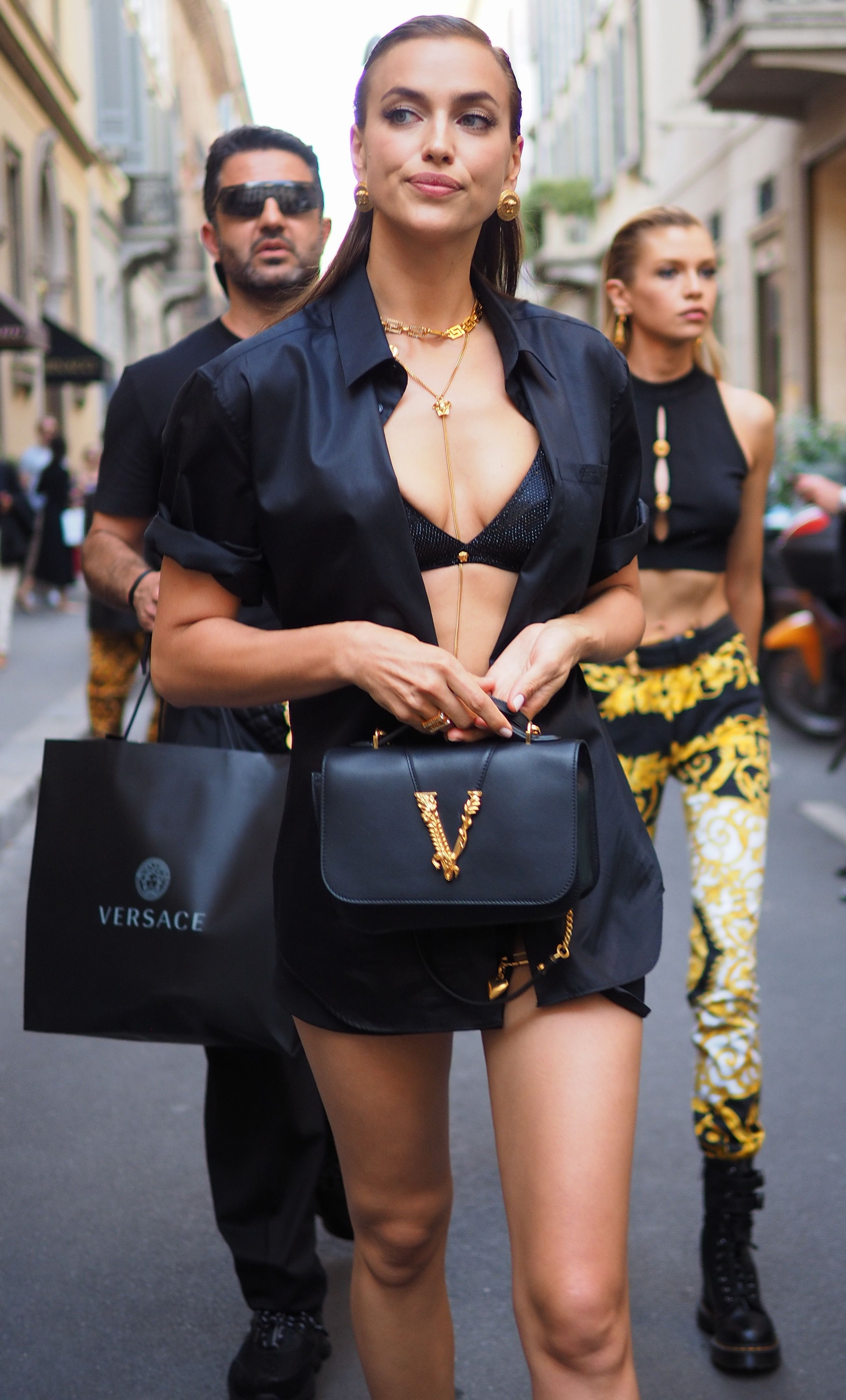 Irina Shayk in the street