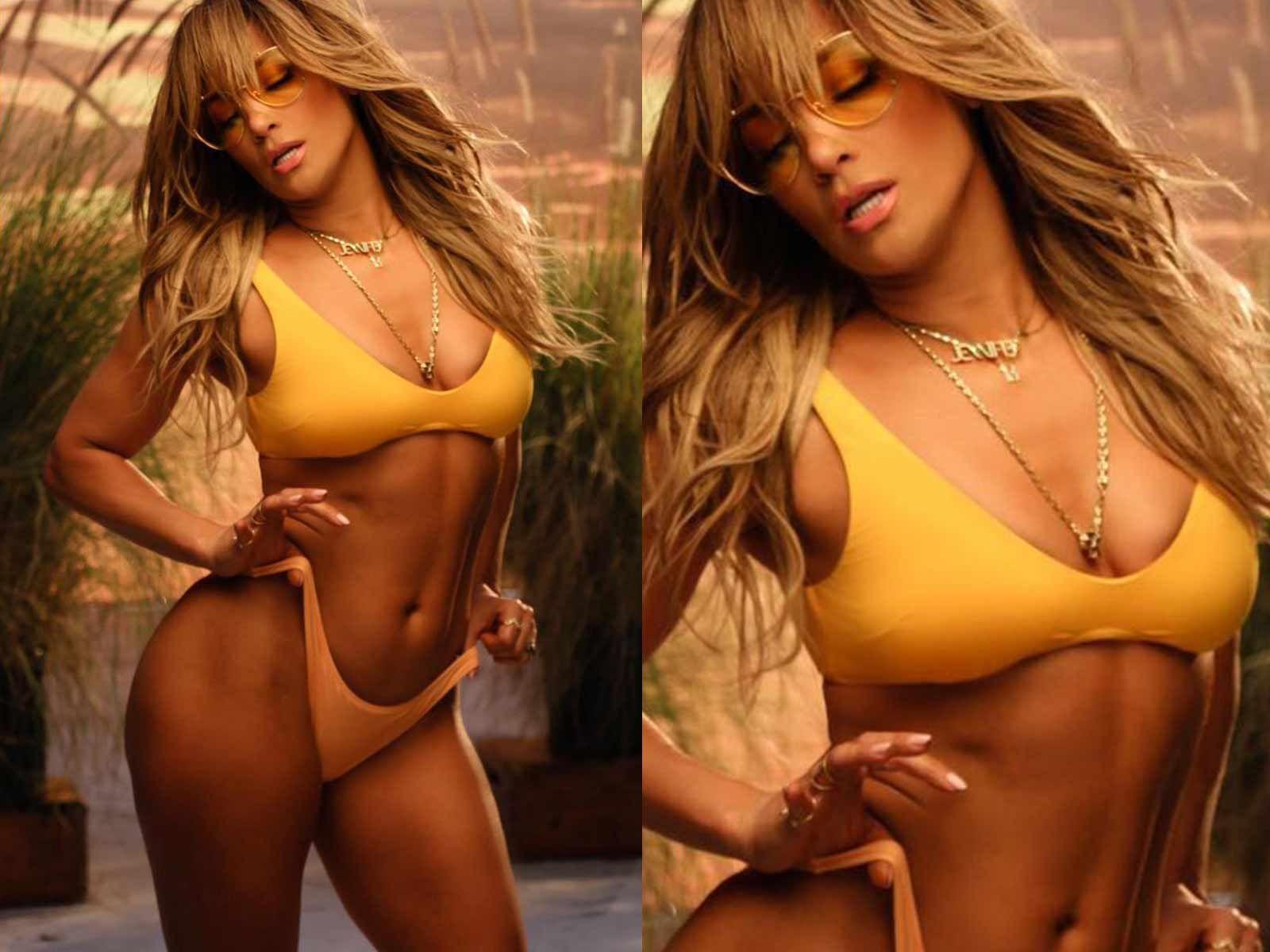 Jennifer Lopez Makes Pulses Race In Itty Bitty Yellow Bikini