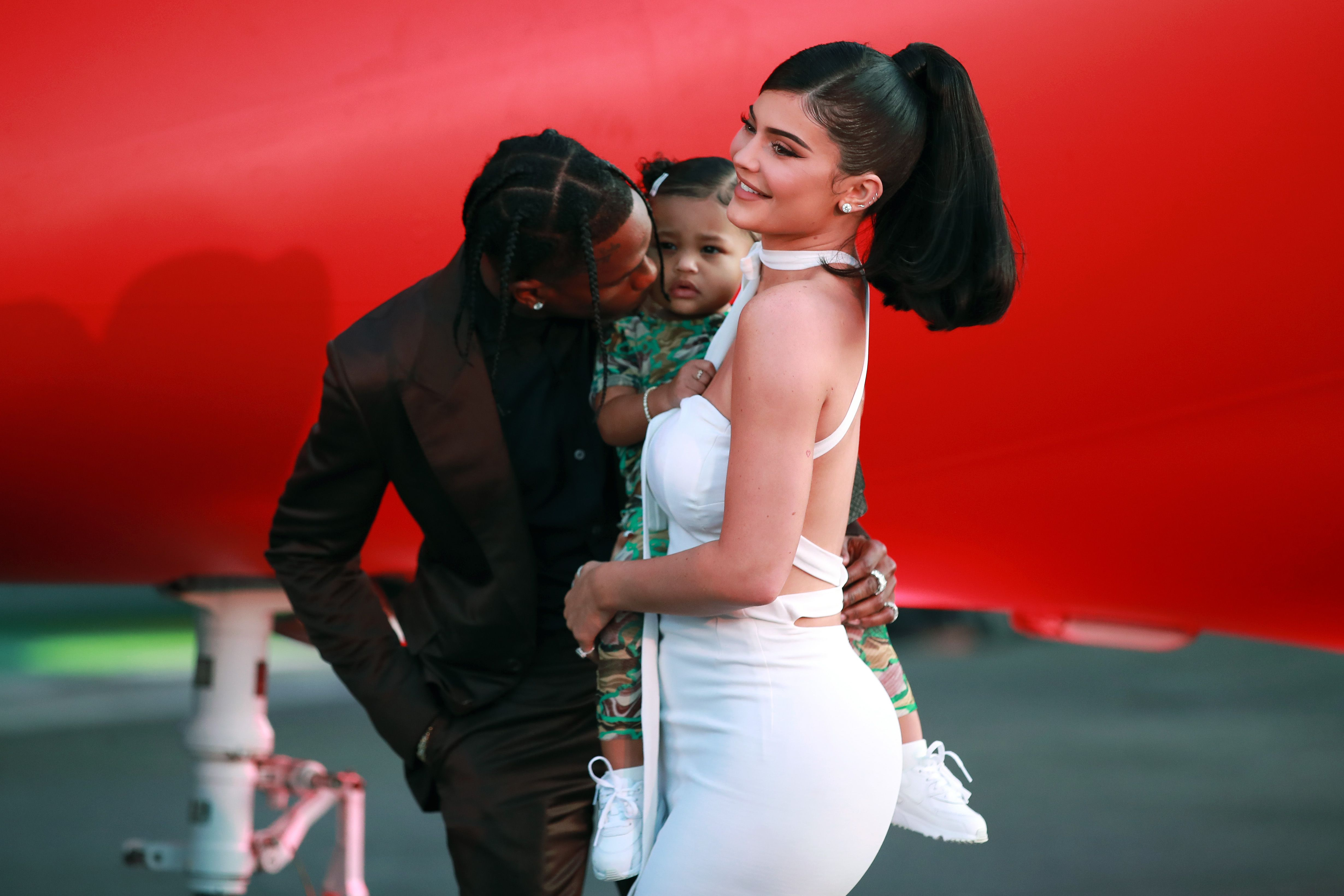 Kylie Jenner and Travis Scott with Stormi.