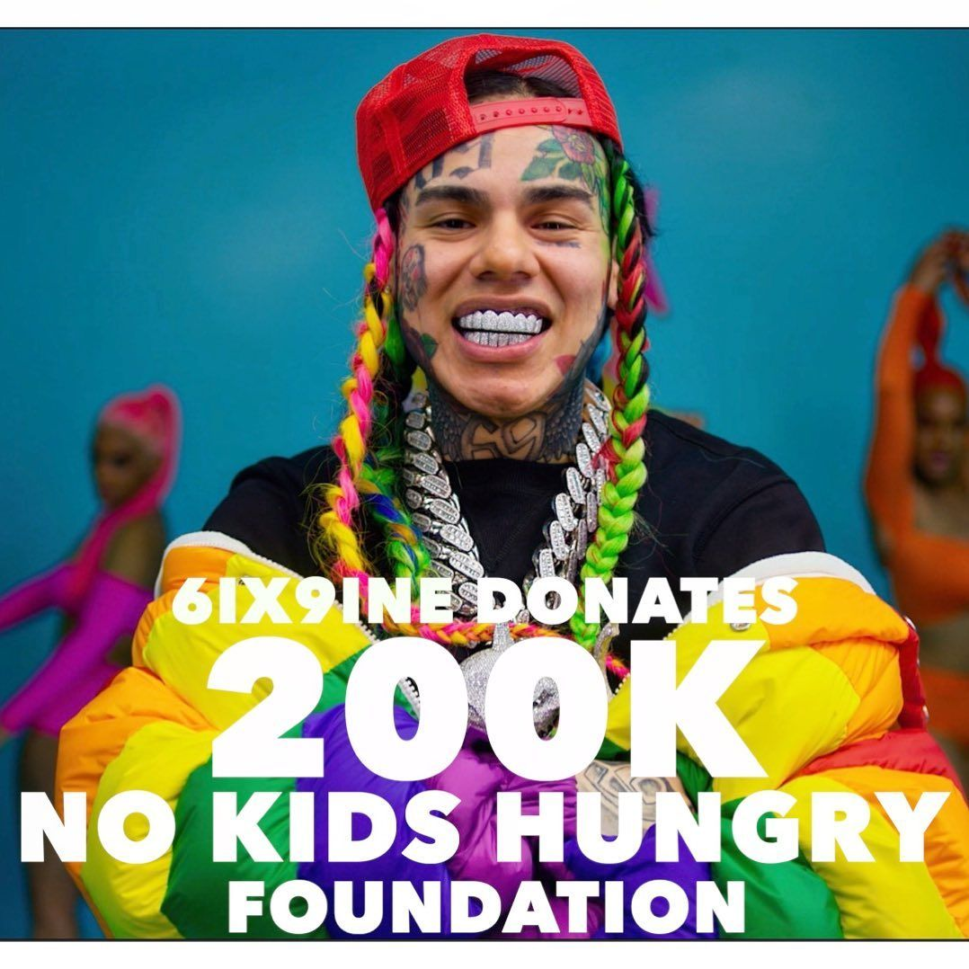 tekashi69 No kids hungry foundation