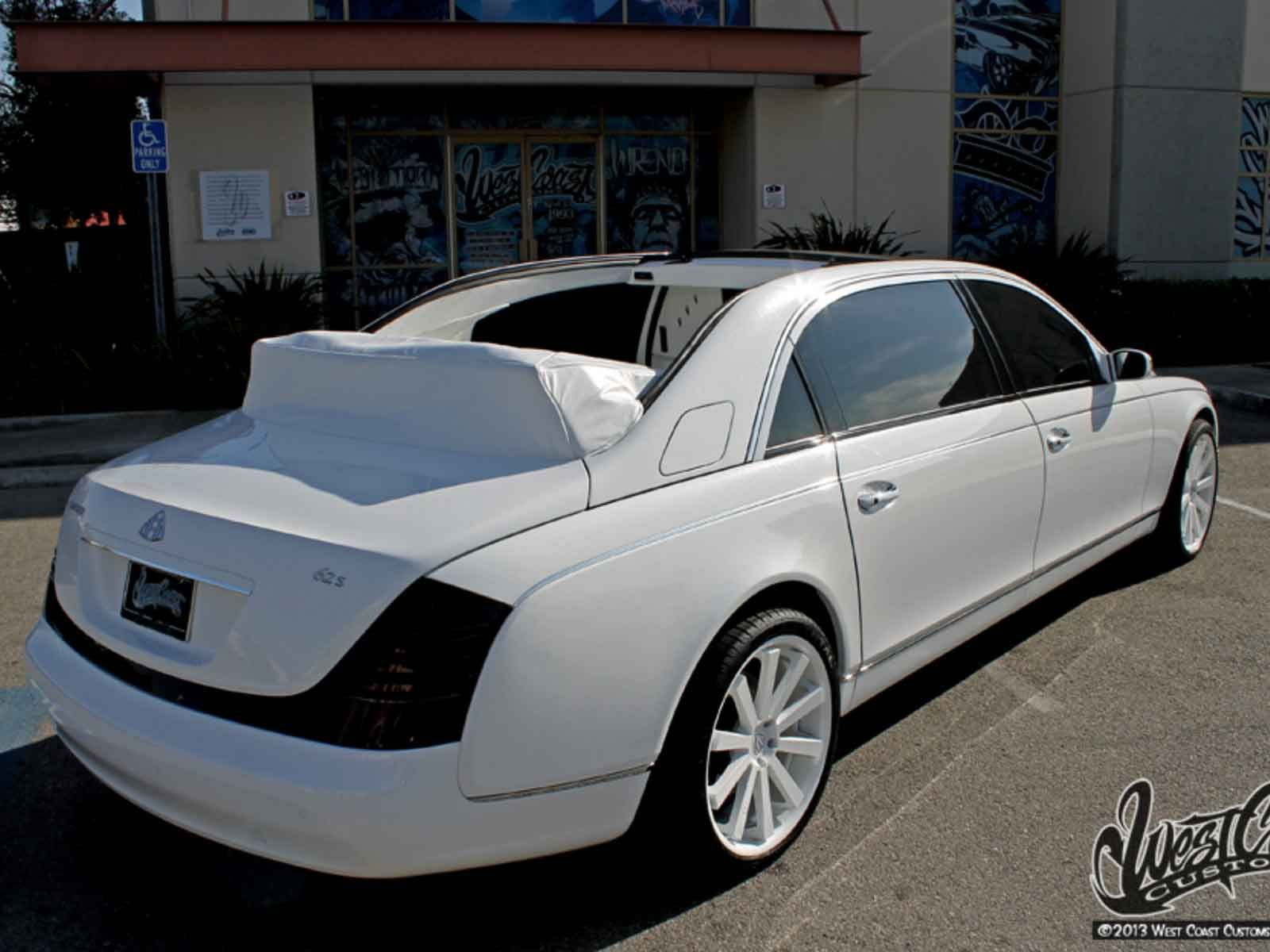 West Coast Customs Cars For Sale >> Tyga S Custom Convertible Maybach Up For Sale To The Highest