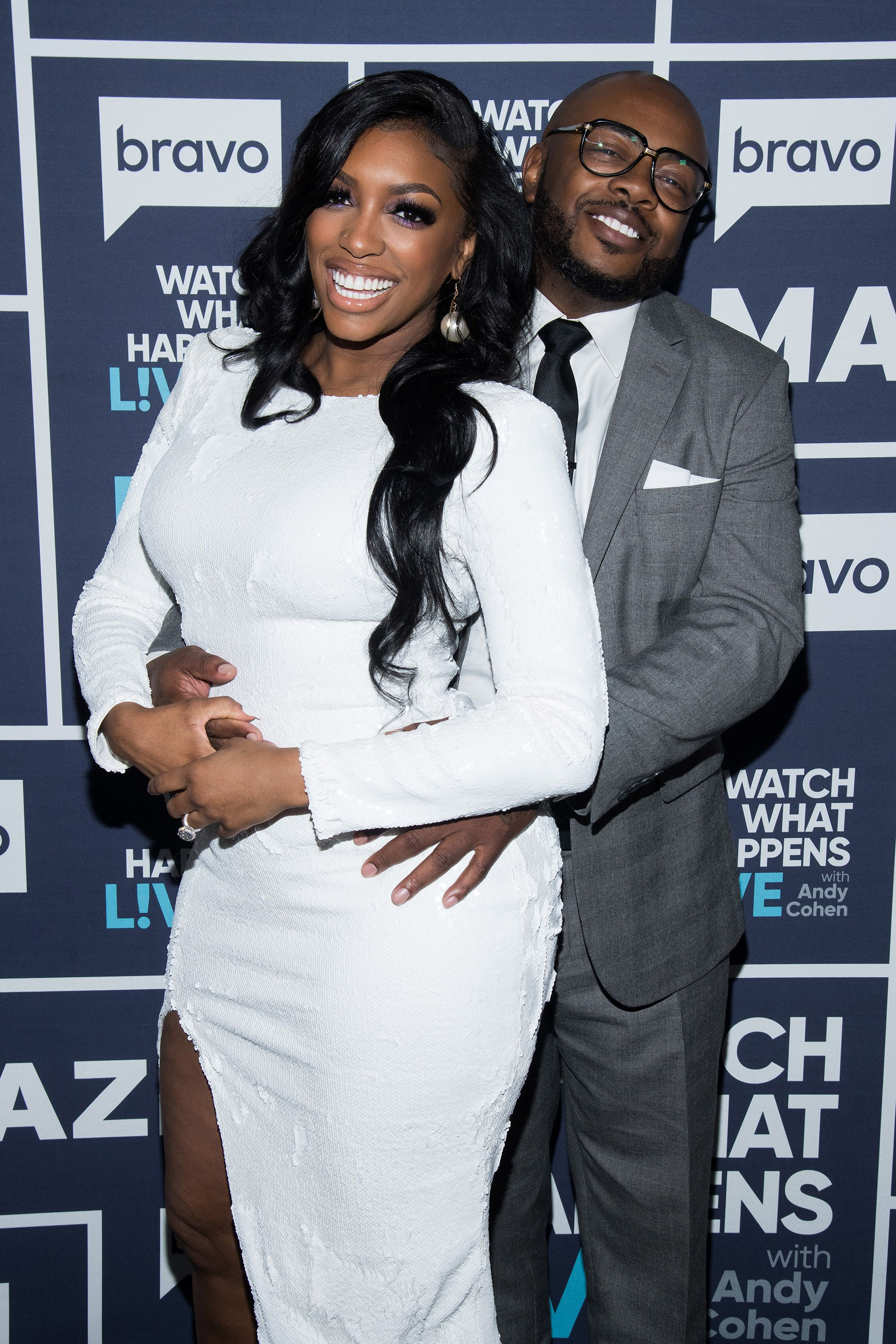 Porsha Williams and Dennis McKinley pose for a photo.