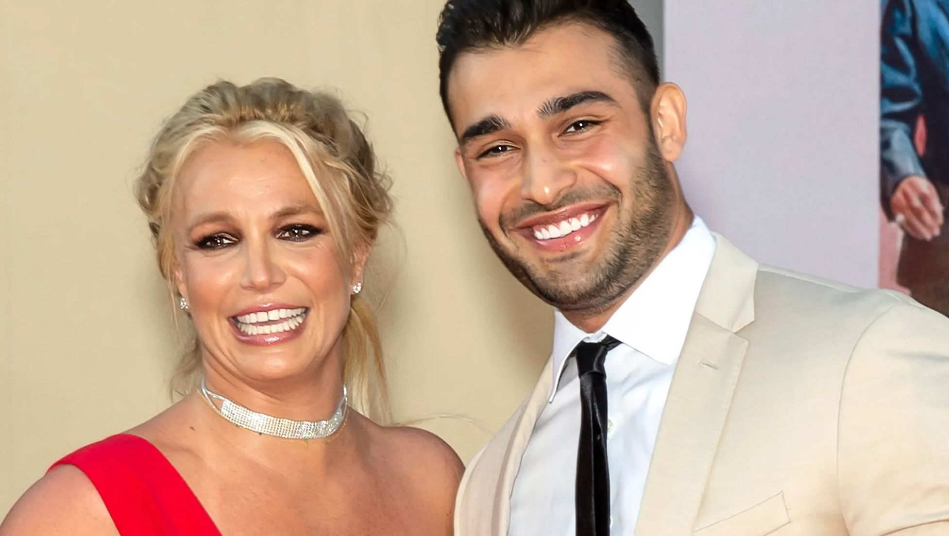 Britney Spears and Sam Asghari at a premiere