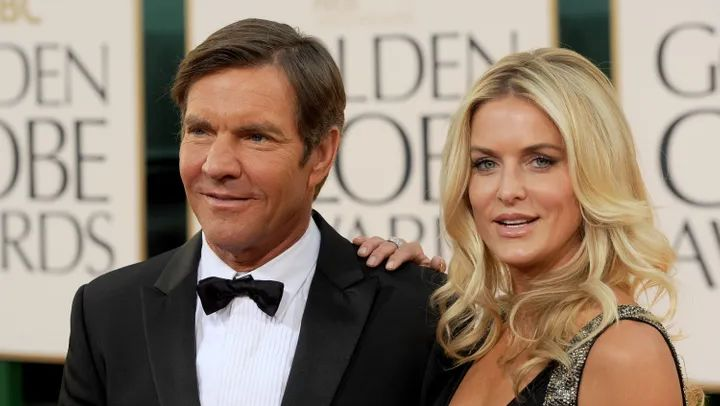 Two people on red carpet at Golden Globes