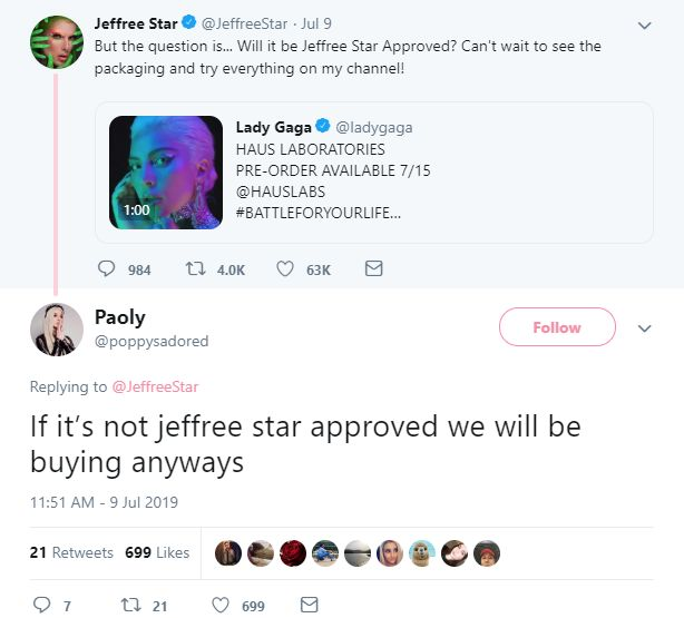 Fans Think Jeffree Star Shaded Lady Gaga's New Makeup Line