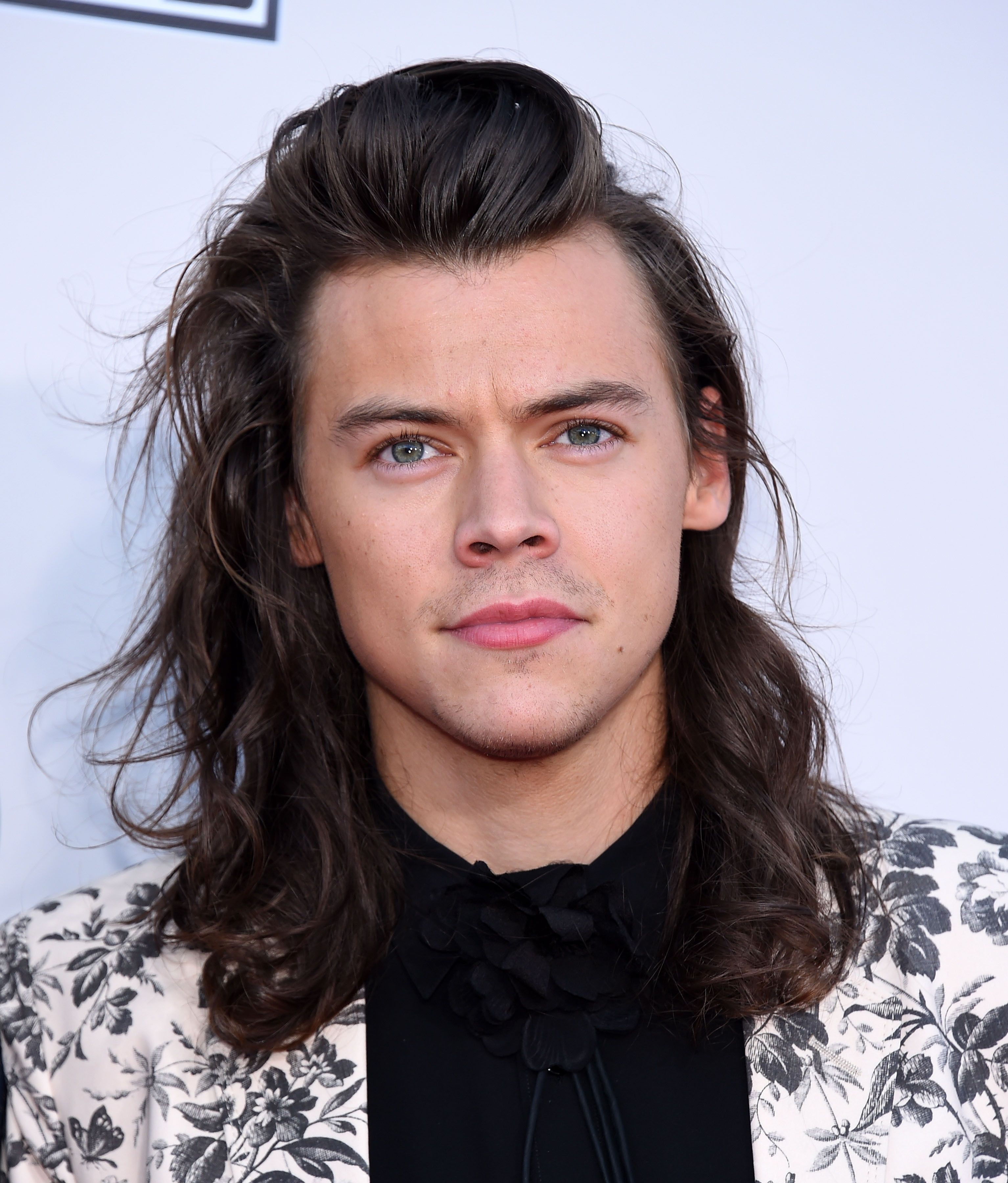 Harry Styles poses in the press room during the 2015 American Music Awards.