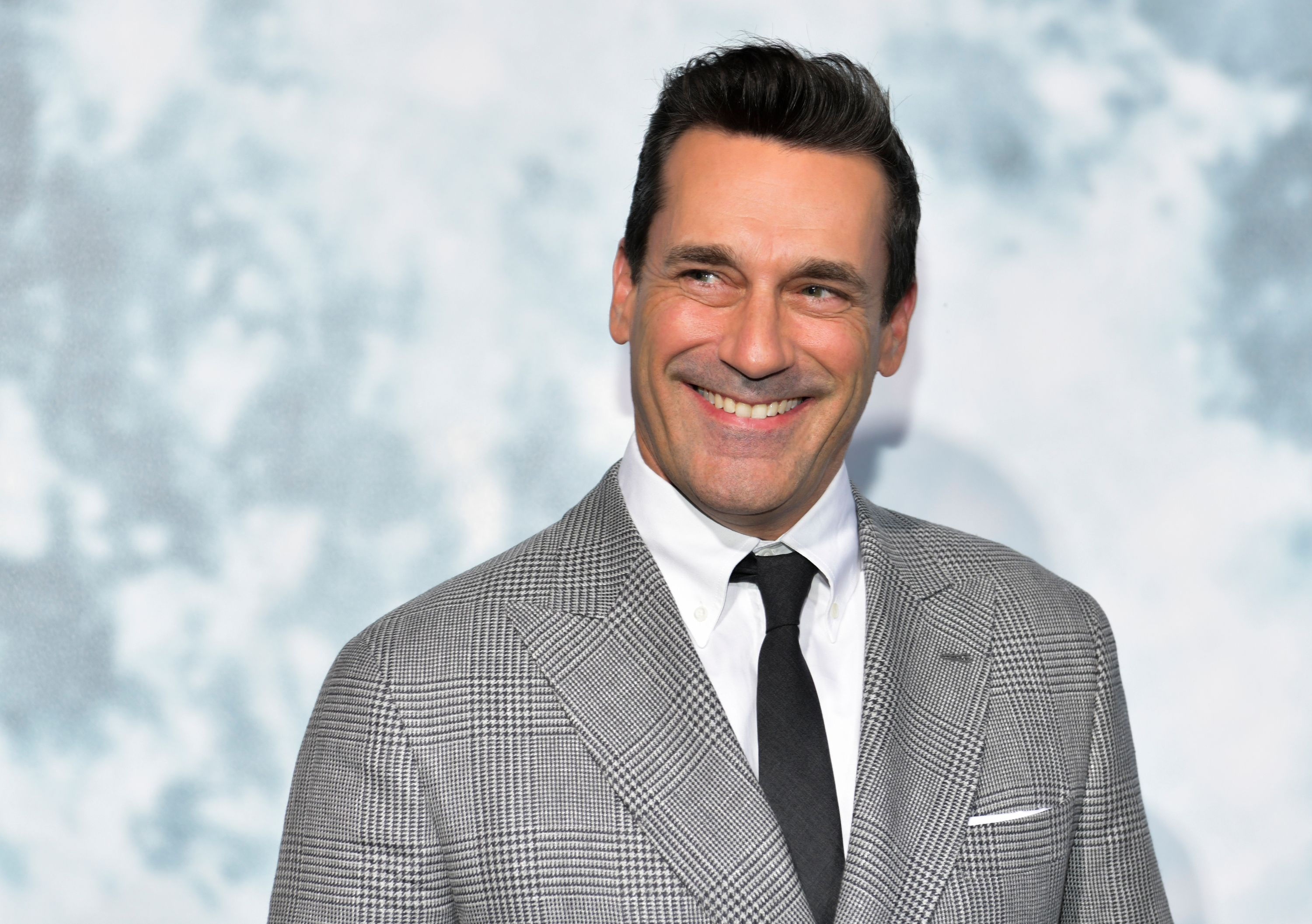Jon Hamm appears to be dating Anna Osceola, who appeared on 'Mad Men' with him.