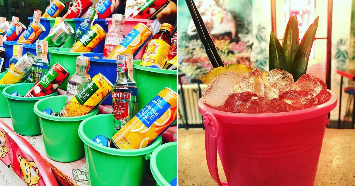 Turn Dollar Store Sand Pails Into Cute Containers For Giant Summer Cocktails