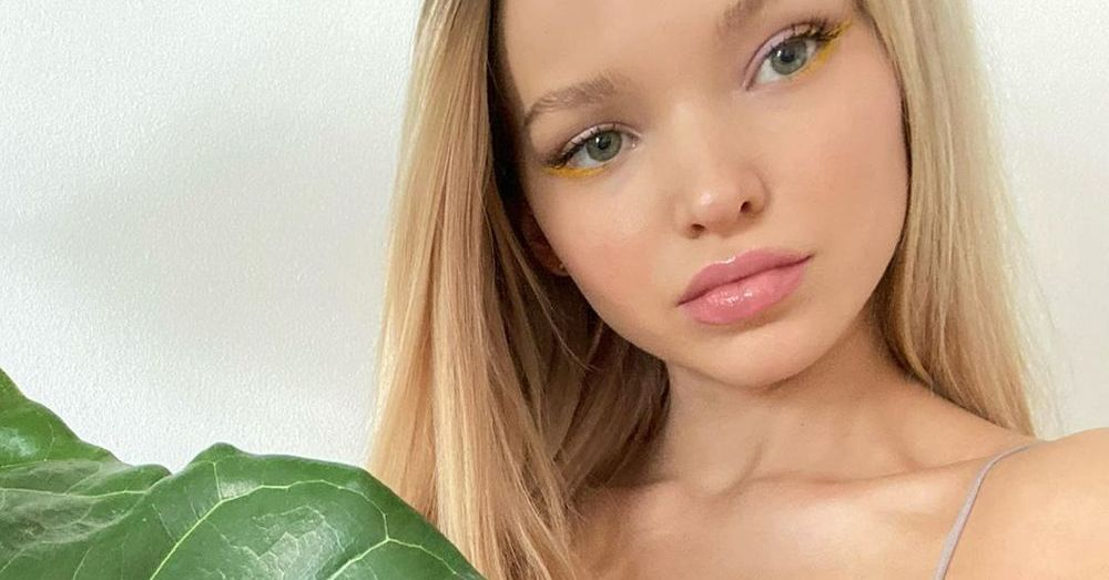 Dove Cameron Highlights Extreme Flexibility In Spaghetti Straps