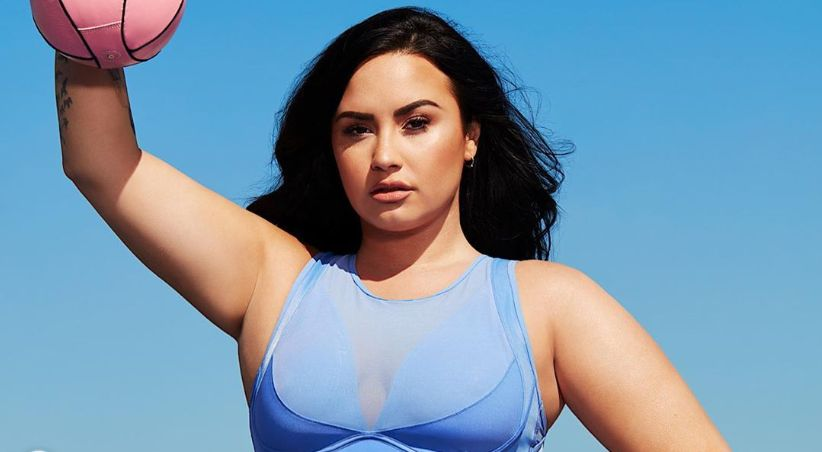 Demi Lovato with basketball
