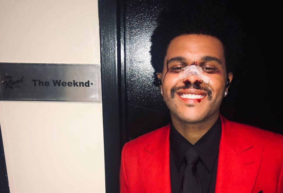 The Weeknd at jimmy Kimmel Live