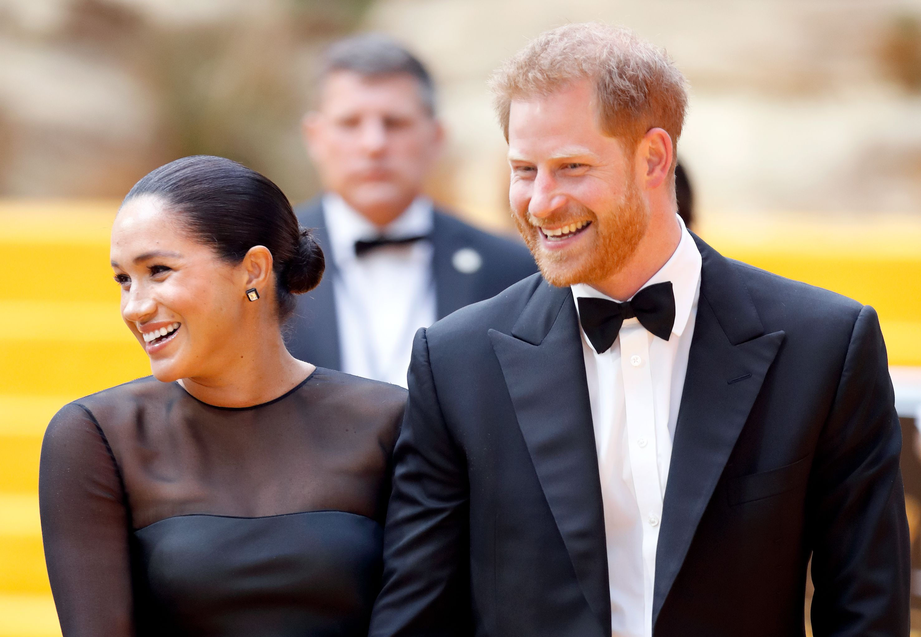 Meghan Markle and Prince Harry at an awards show