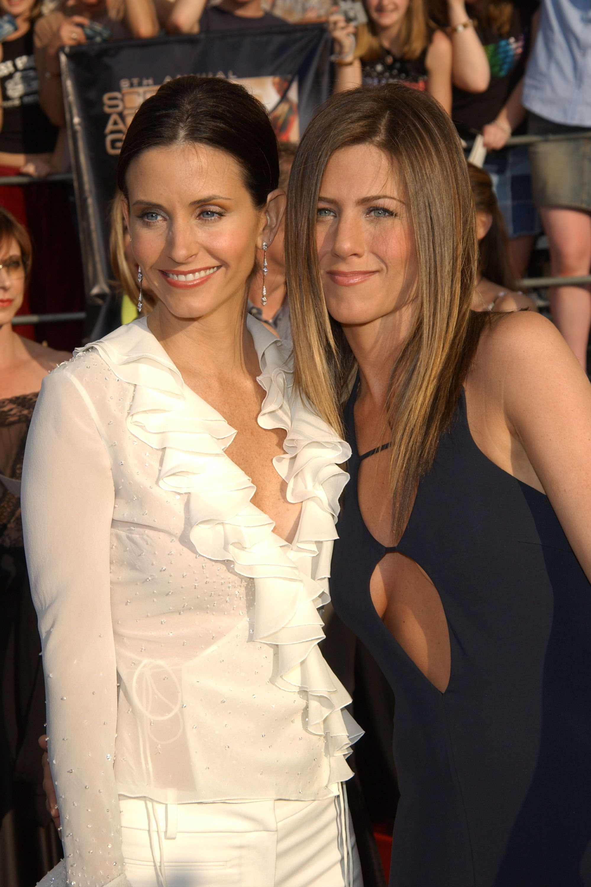 Jennifer Aniston and Courteney Cox at an event