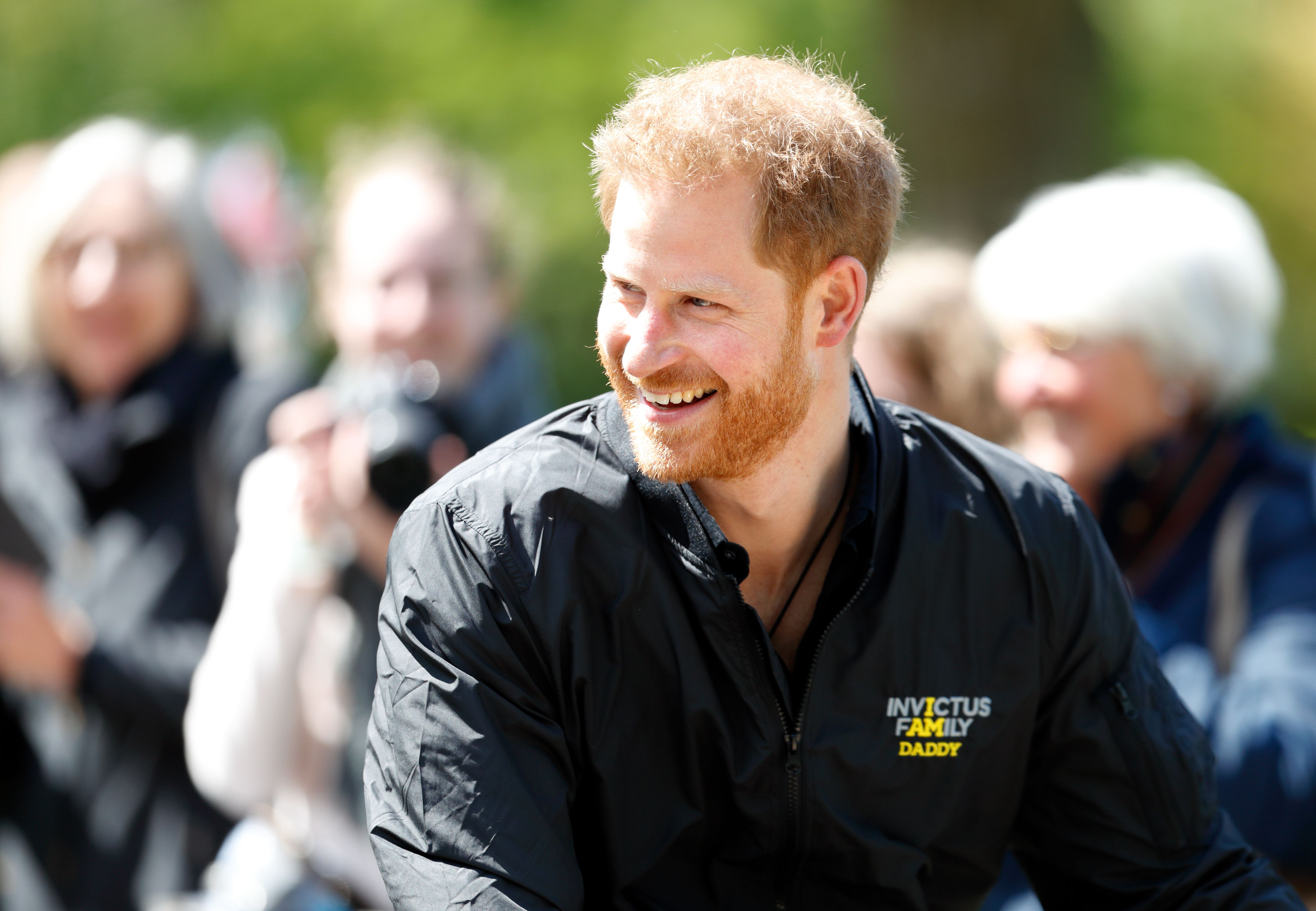 Prince Harry in his Invictus Games shirt