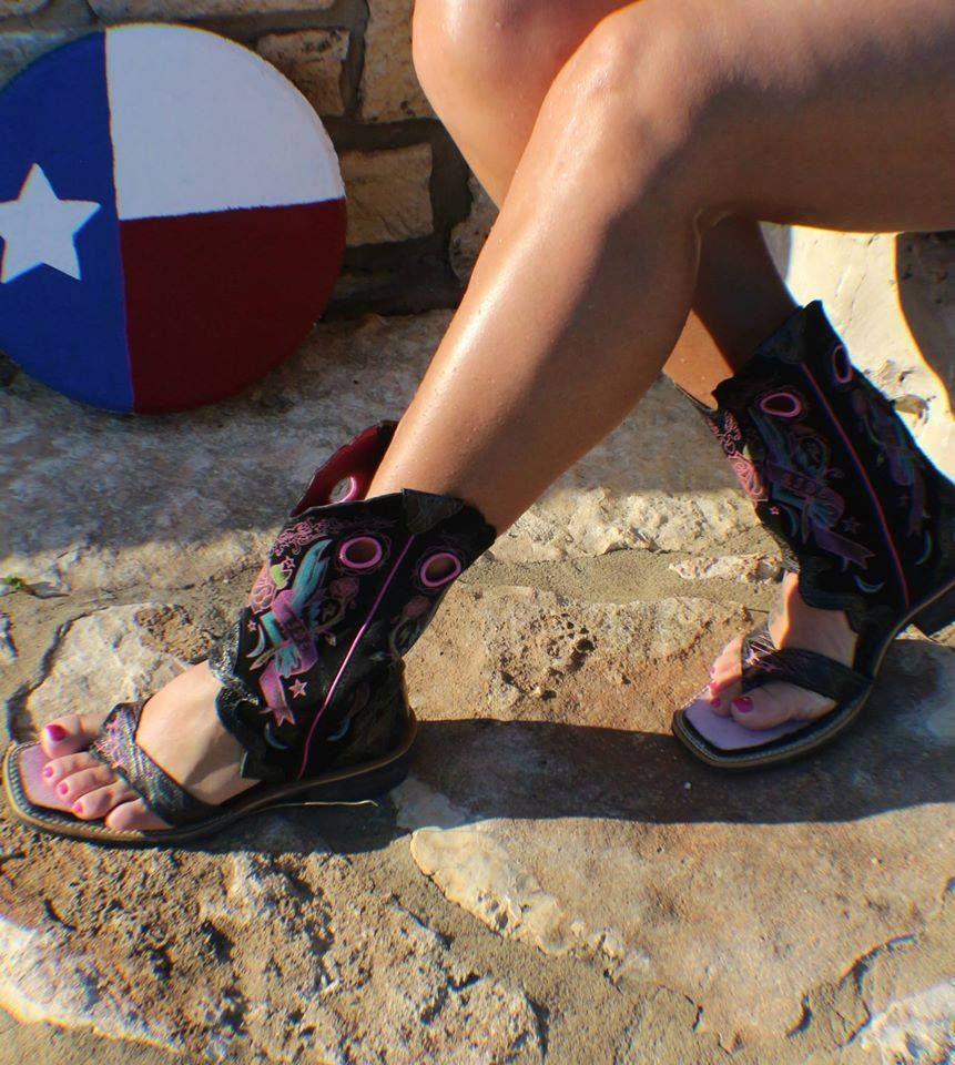 caldo-vendita colori e suggestivi offrire sconti Indulge Your Inner Redneck With Cowboy Boot Sandals This Summer