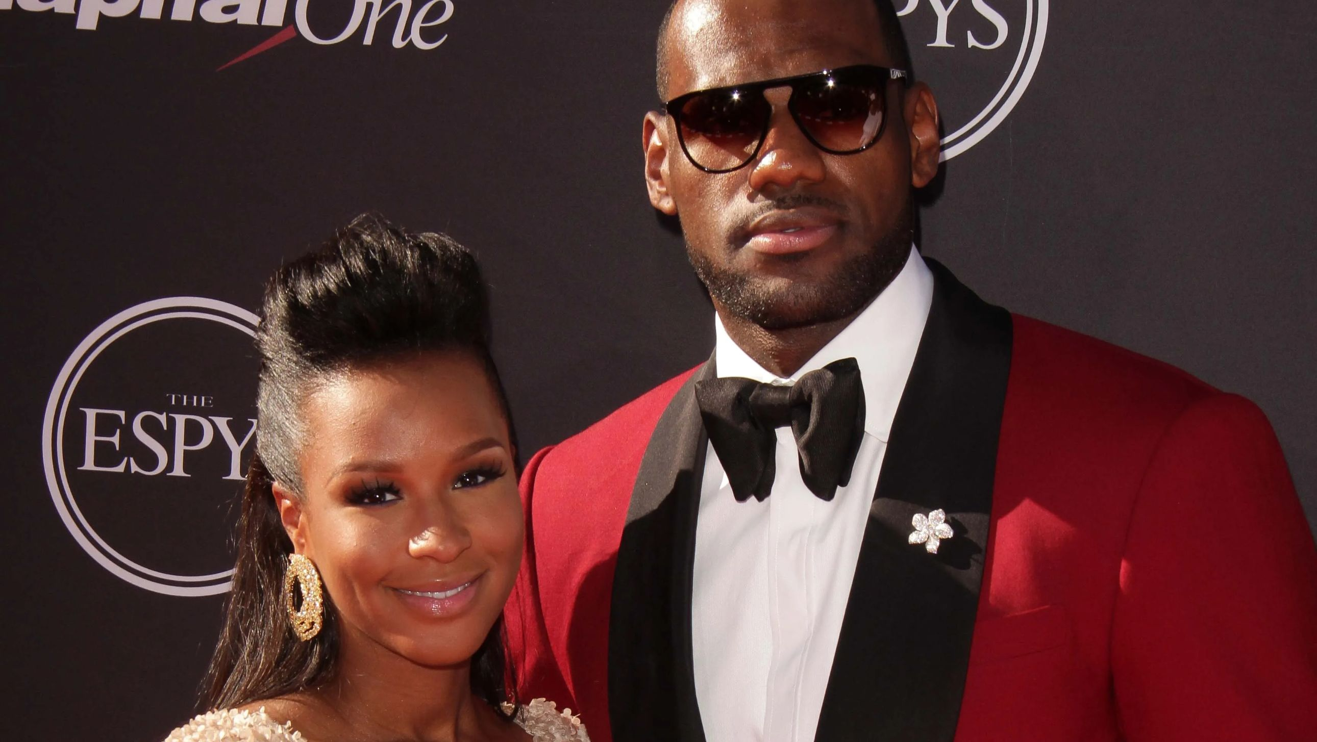 Lebron James with wife Savannah James at the red carpet of the Espy.