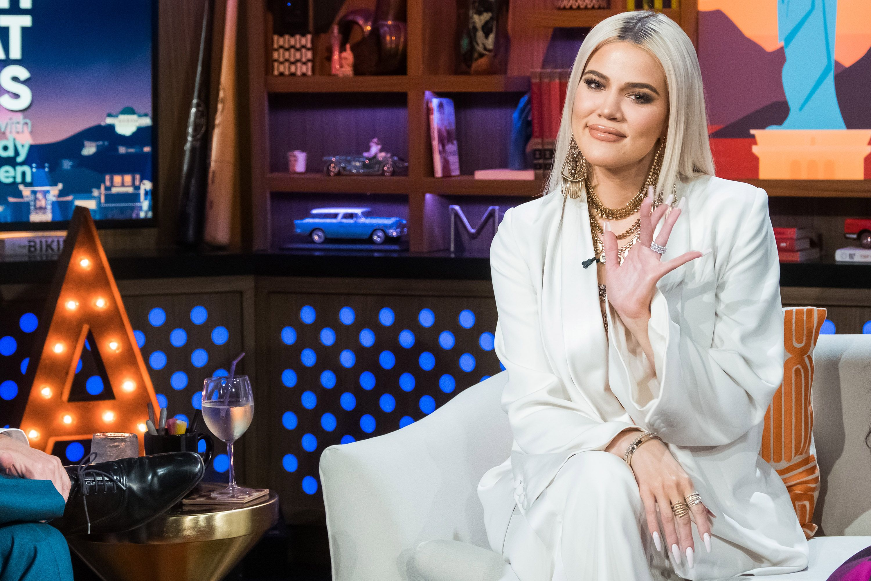 khloe kardashian on Watch What Happens Live with Andy Cohen