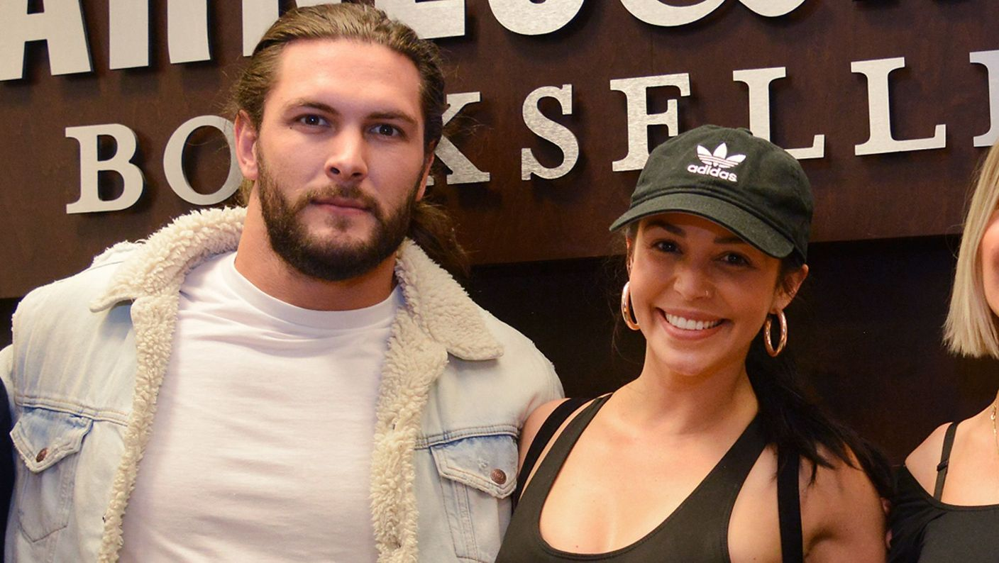 Brock Davies and Scheana Shay visit Barnes and Noble.