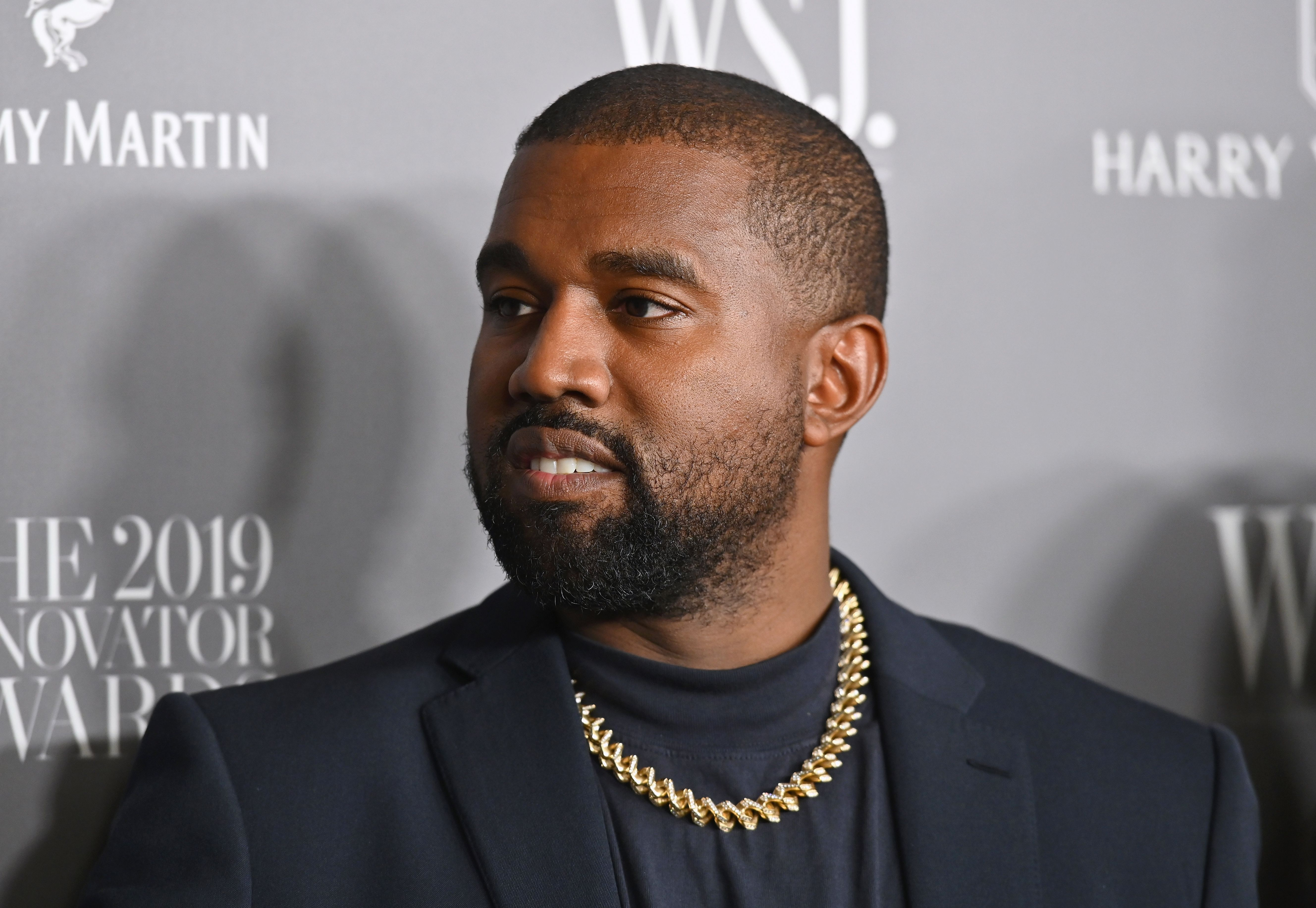 Kanye West on the red carpet