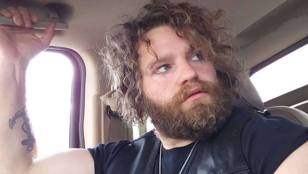 Gabriel Brown sitting in a car