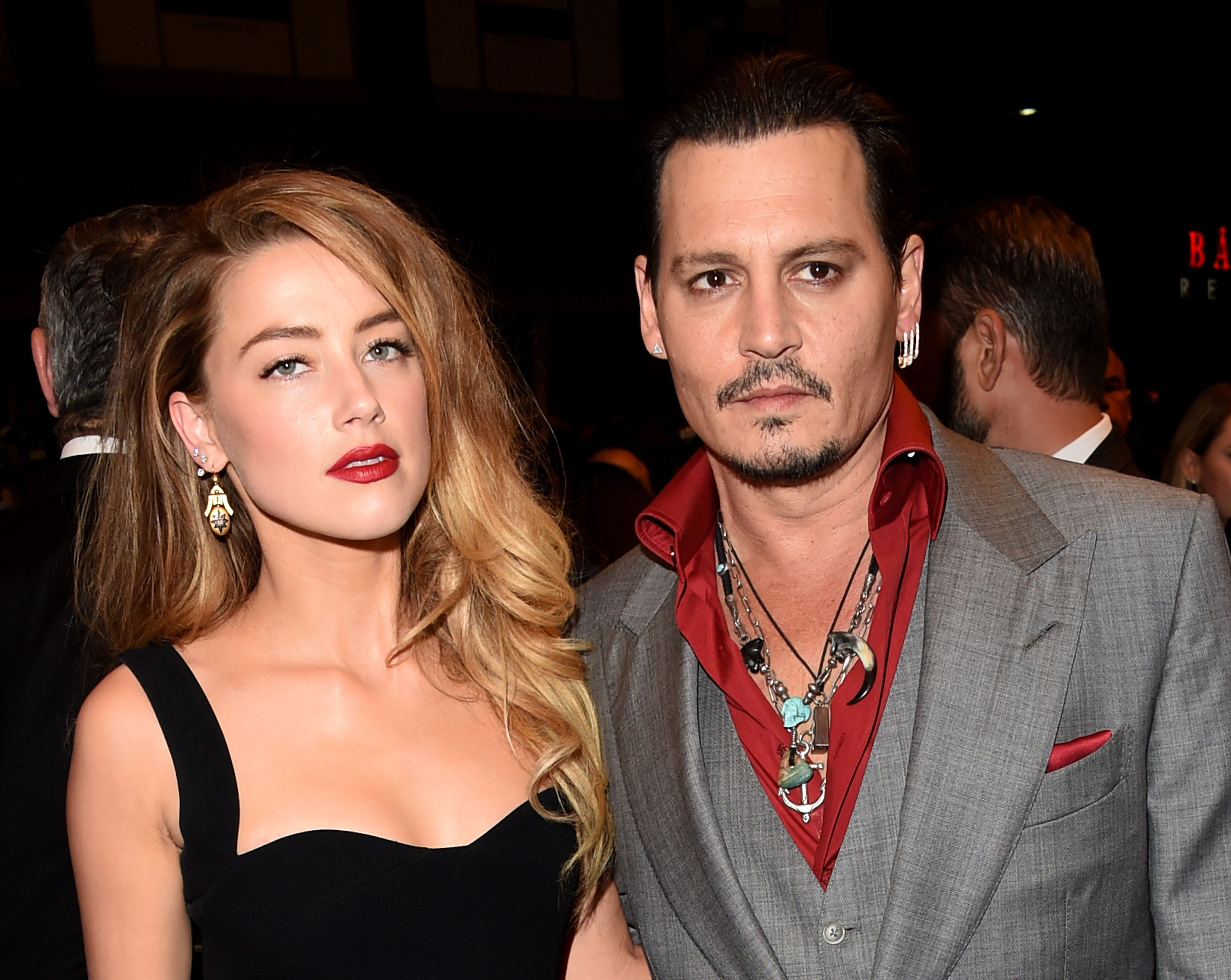 Former couple Amber Heard and Johnny Depp