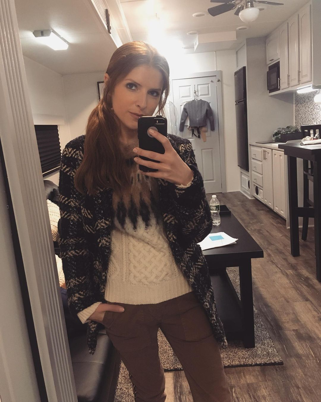 Anna Kendrick home selfie