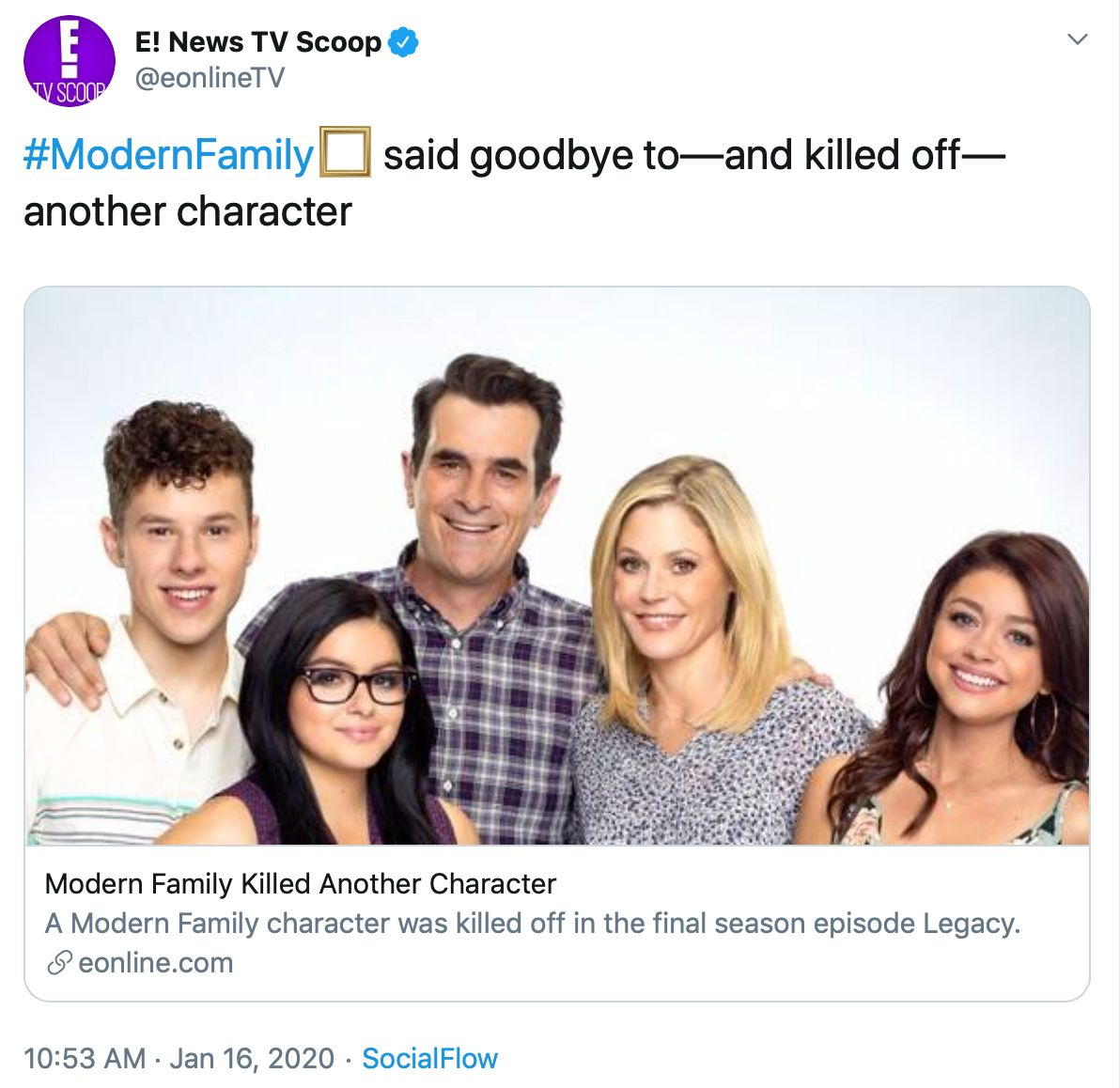 A Modern Family modern family' kills off an important character as the