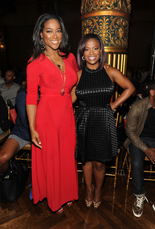 """Kenya Moore and Kandi Burress of """"The Real Housewives of Atlanta"""""""