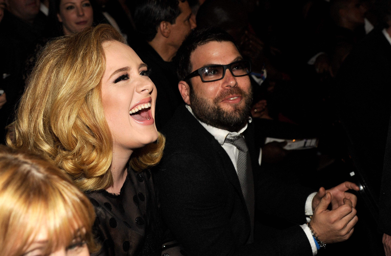 Adele and her ex-husband Simon Konecki at an event