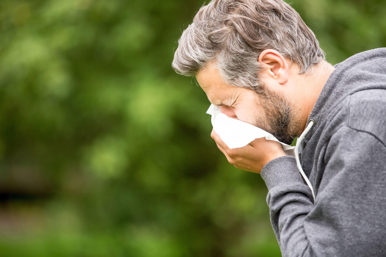 Person sneezing
