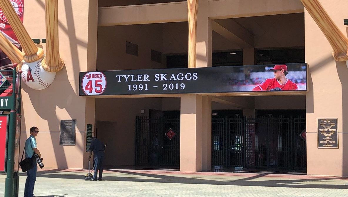 Angel Stadium of Anaheim Puts Up Tyler Skaggs Memorial After