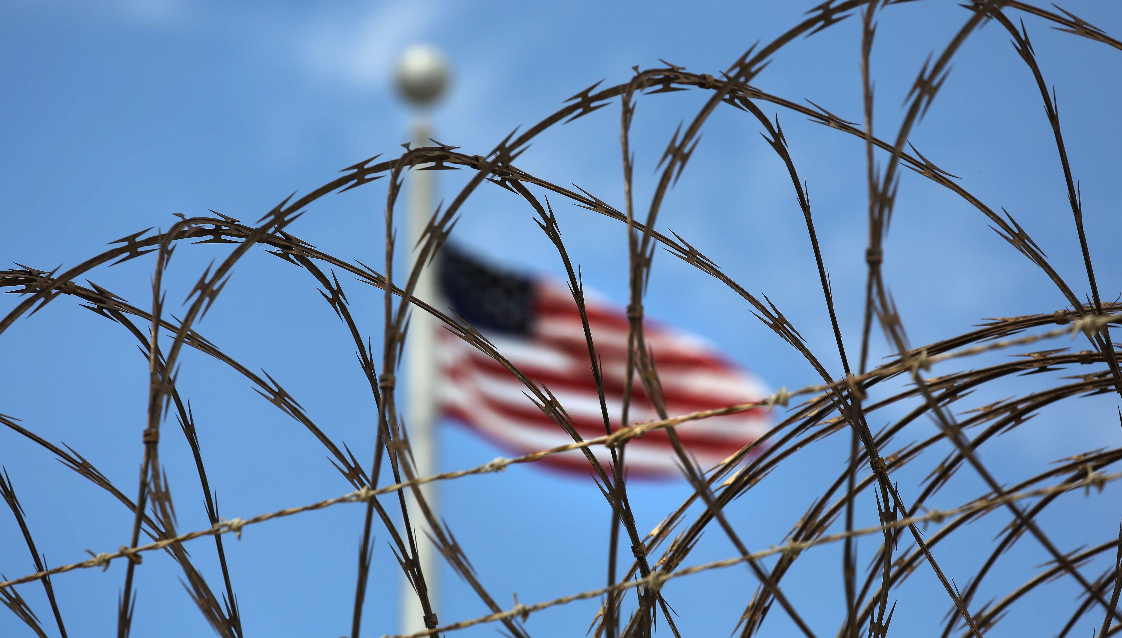 U.S. flag at the Guantanamo Bay detention center.