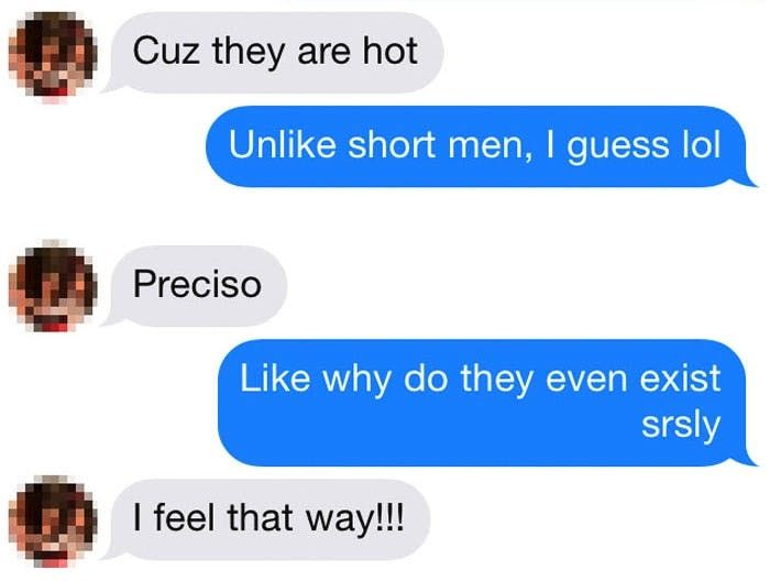 Woman On Tinder Says Short Guys Are The Worst And Gets A