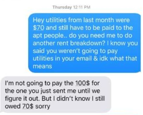 Guy Confronts Roommate Over Late Utility Bill and The Internet Has A