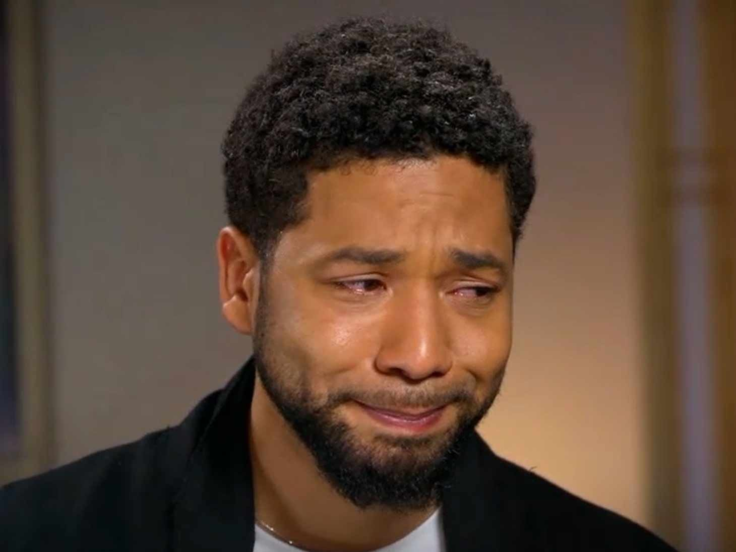 Jussie Smollett Tears Up in First Interview Since Attack