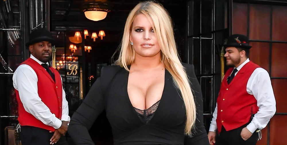 Jessica Simpson in the street