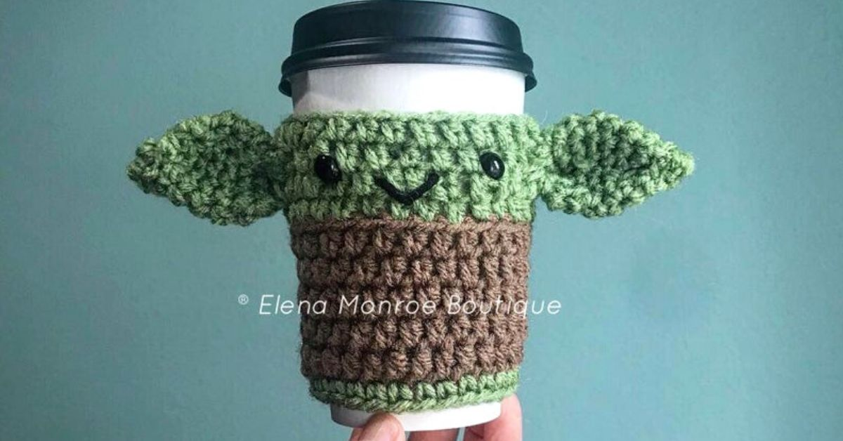 Keep Your Coffee Warm And Cute In A Crocheted Baby Yoda Coffee Cozy