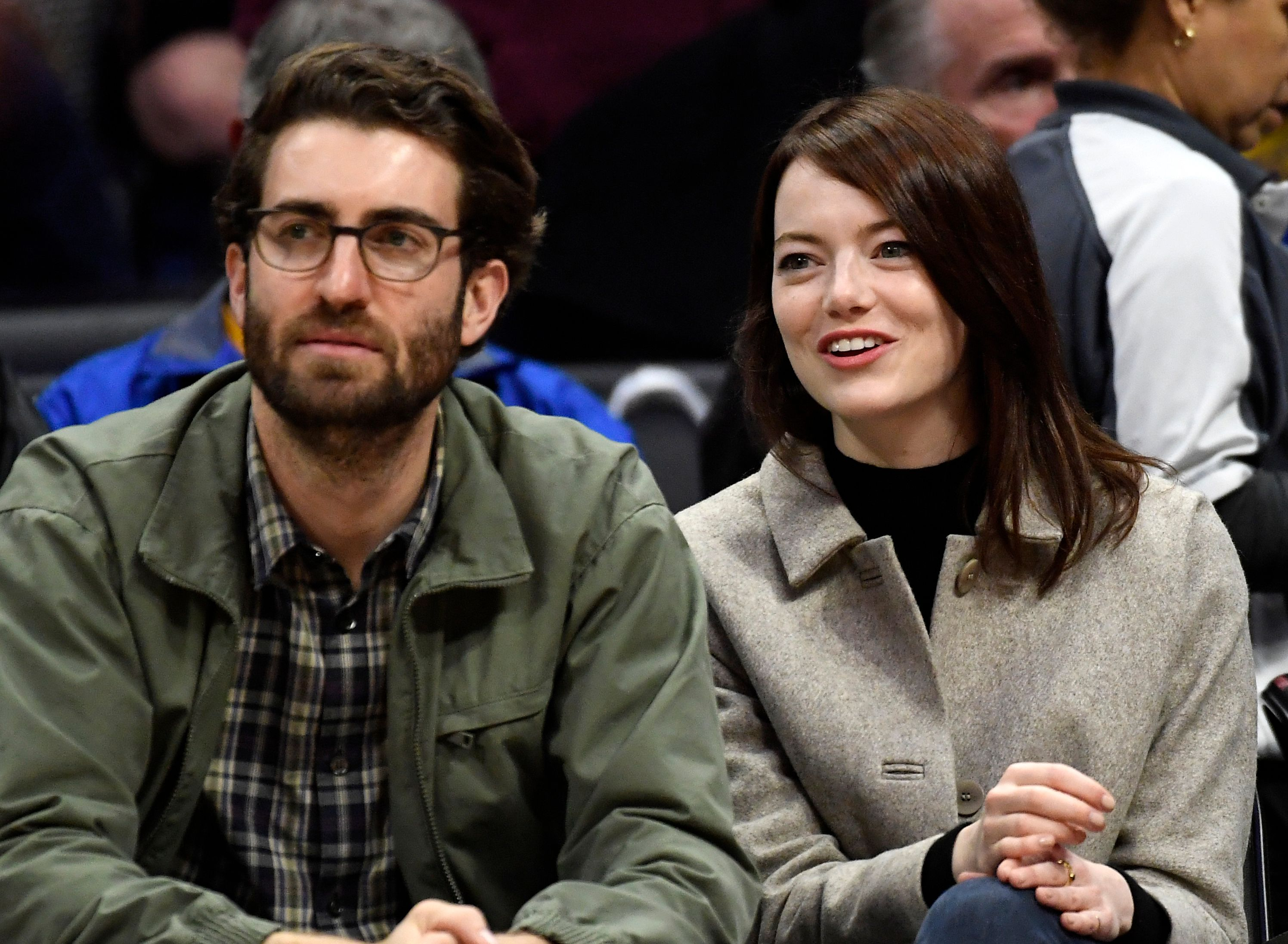 Dave McCary and Emma Stone