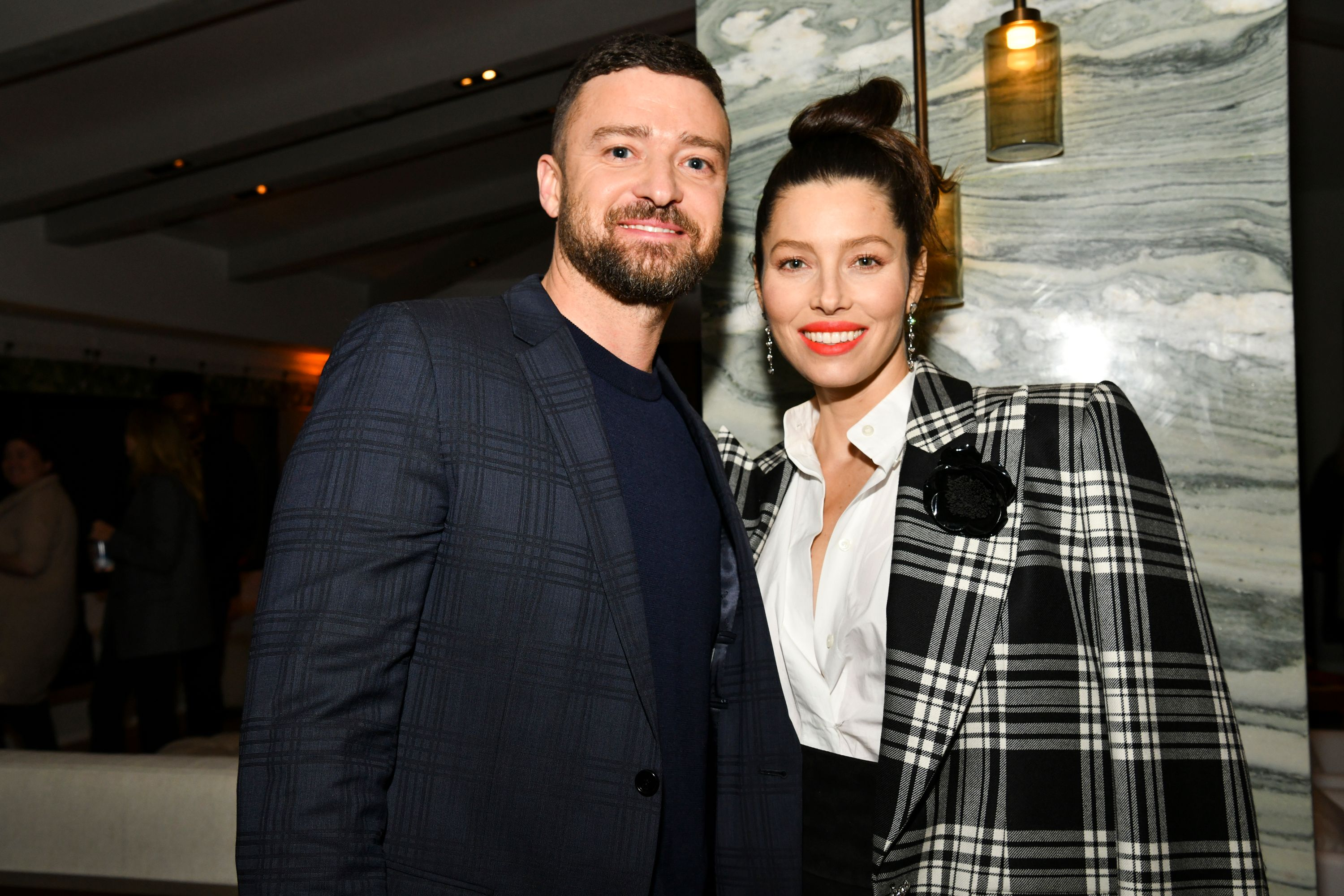 Justin Timberlake and Jessica Biel at an event together