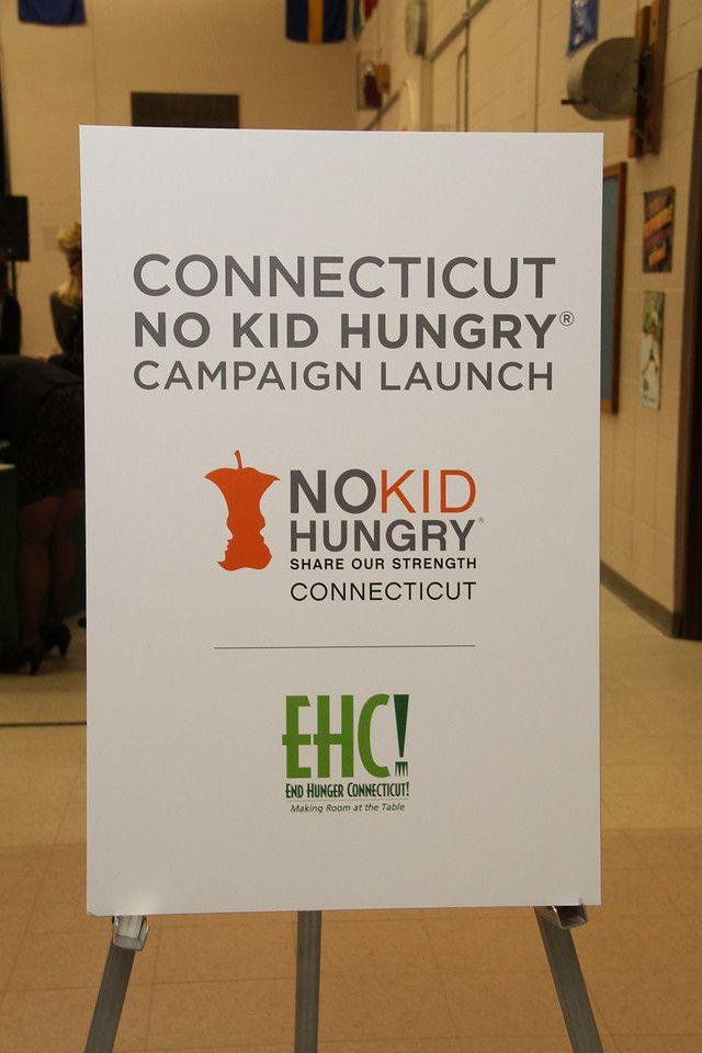'No Kid Hungry' signage