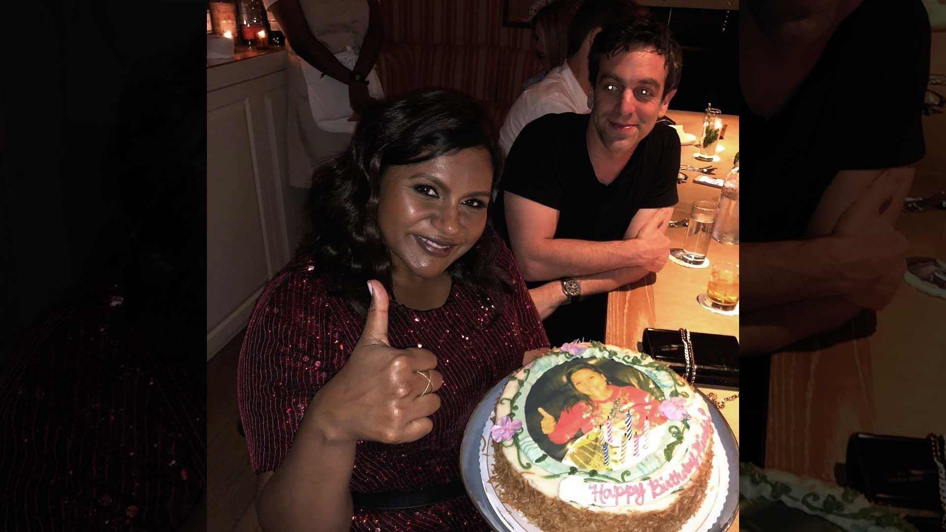 Fantastic Mindy Kaling Celebrates 40Th Birthday With The Office Co Star Funny Birthday Cards Online Sheoxdamsfinfo