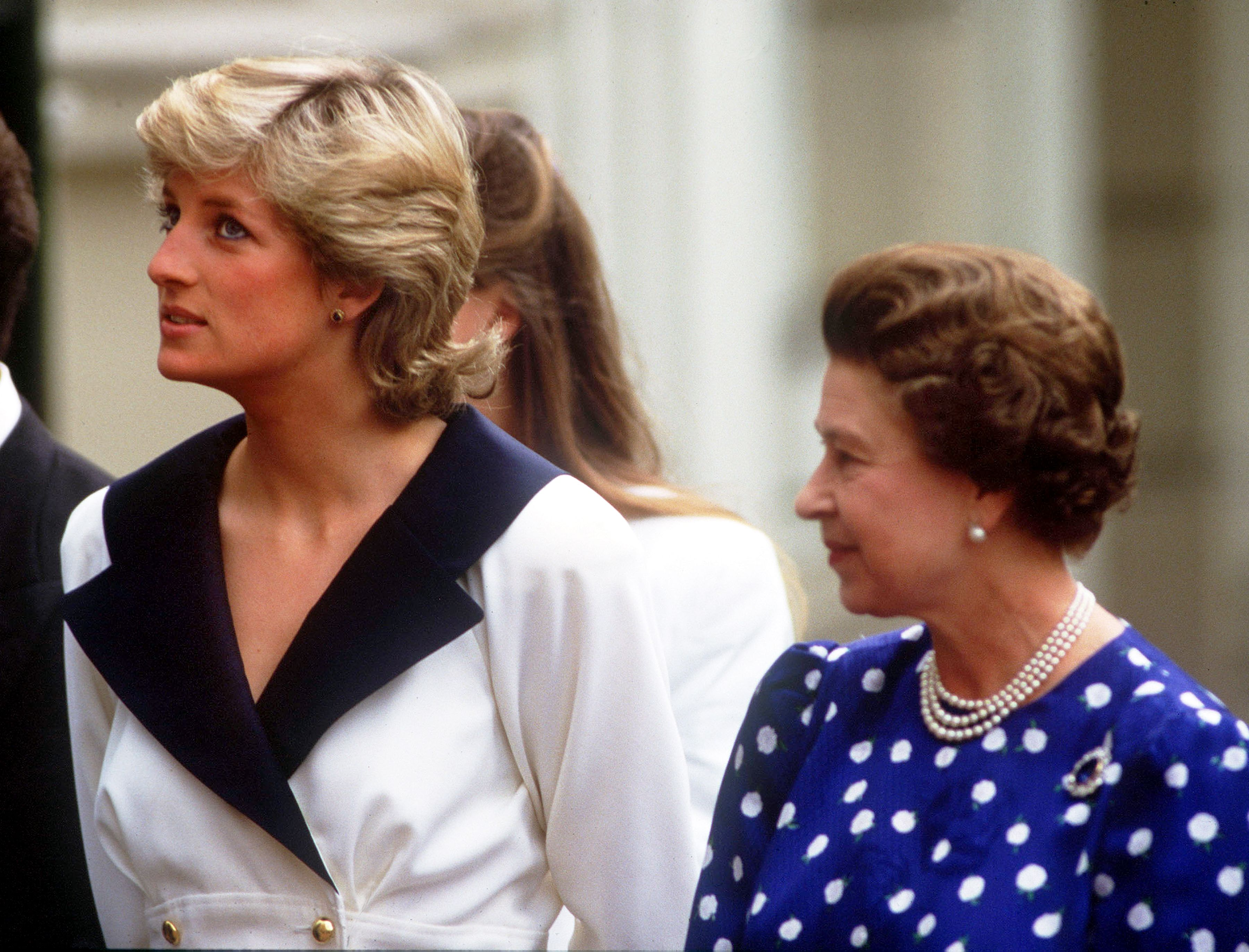 Princess Diana and Queen Elizabeth II