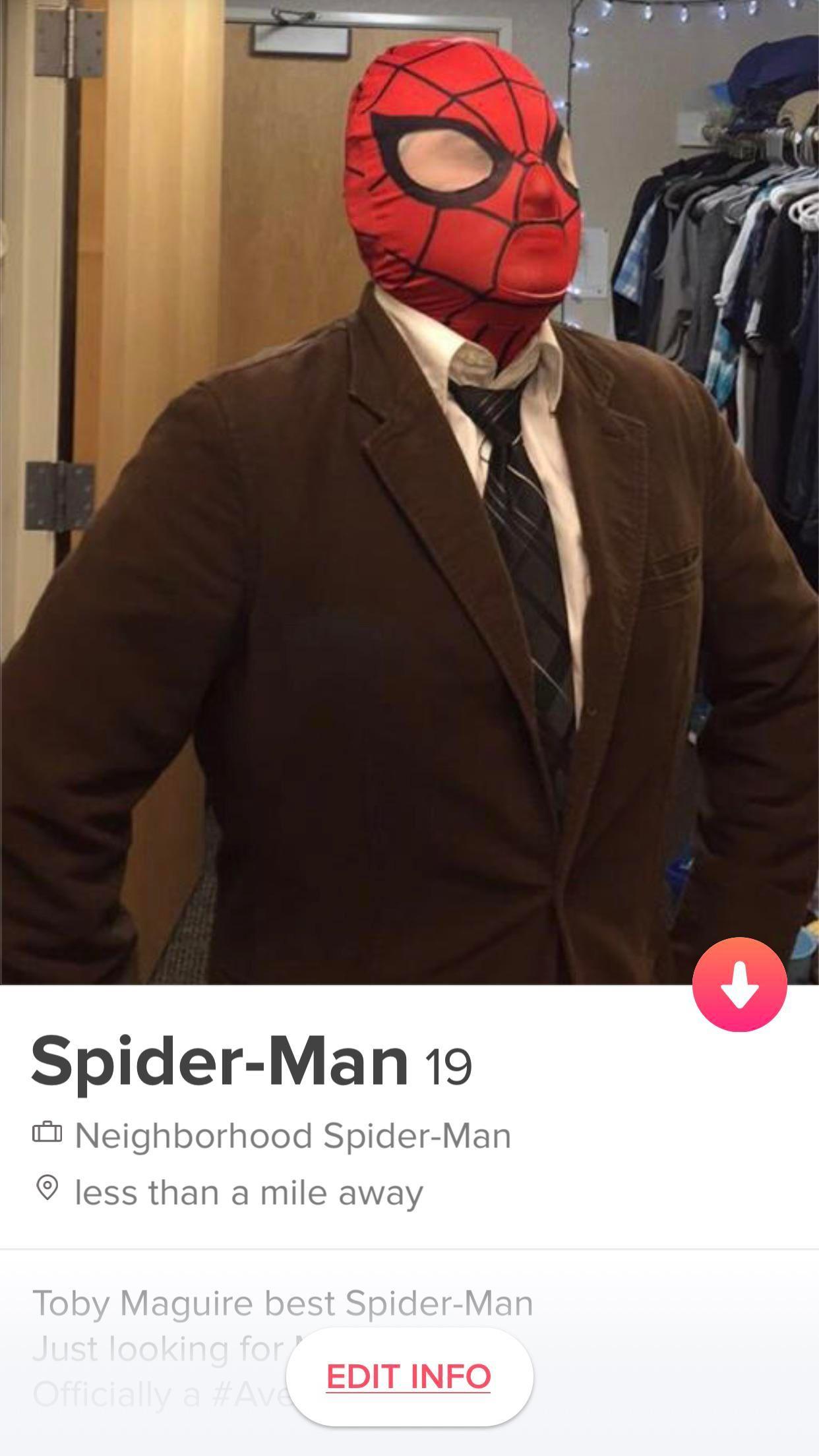 Spider man dating profil Online Dating affirmationer