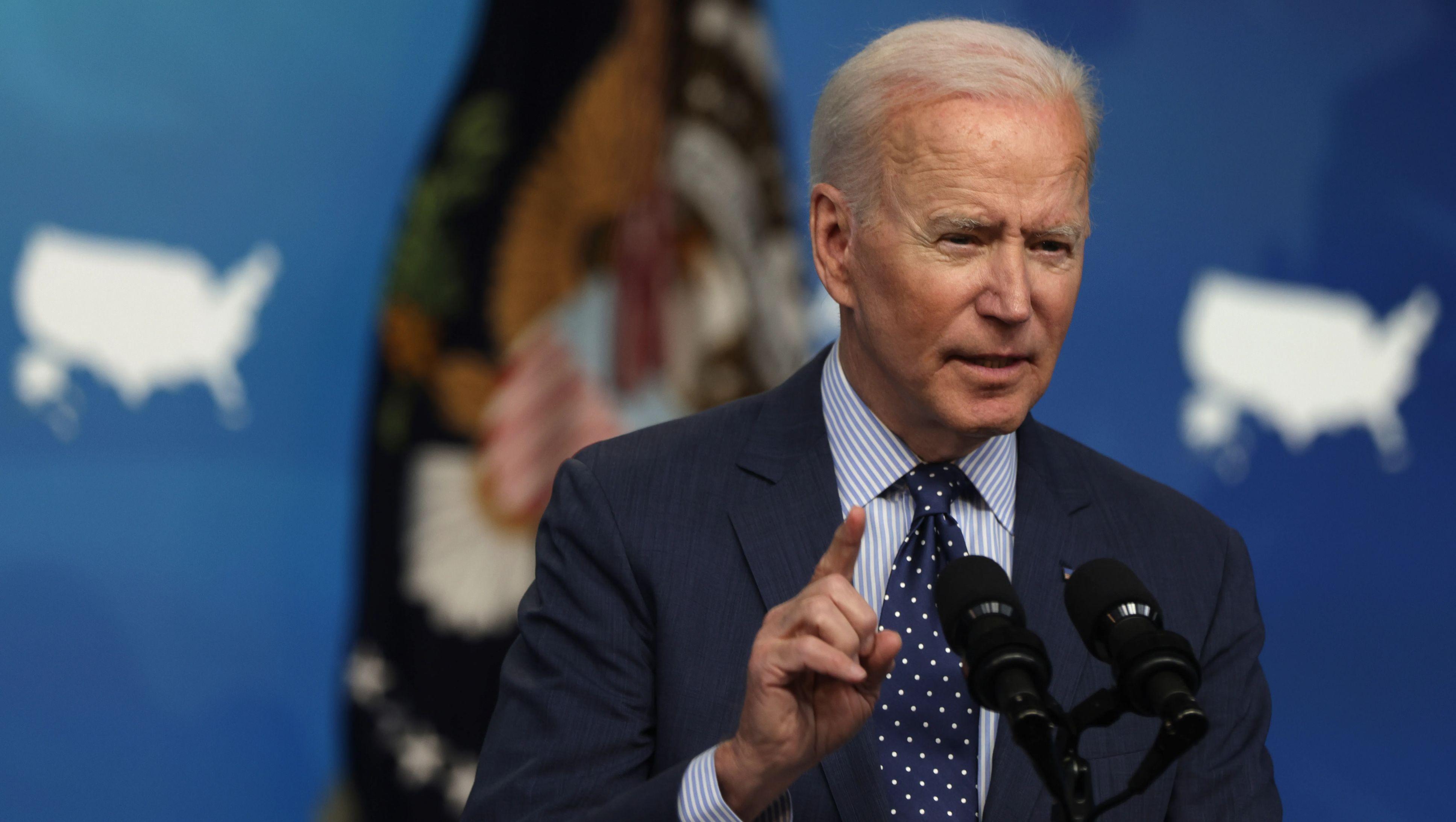 Joe Biden speaks at an event.