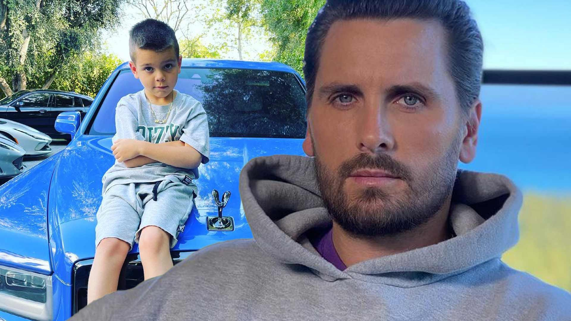 Scott Disick and his son, Reign.
